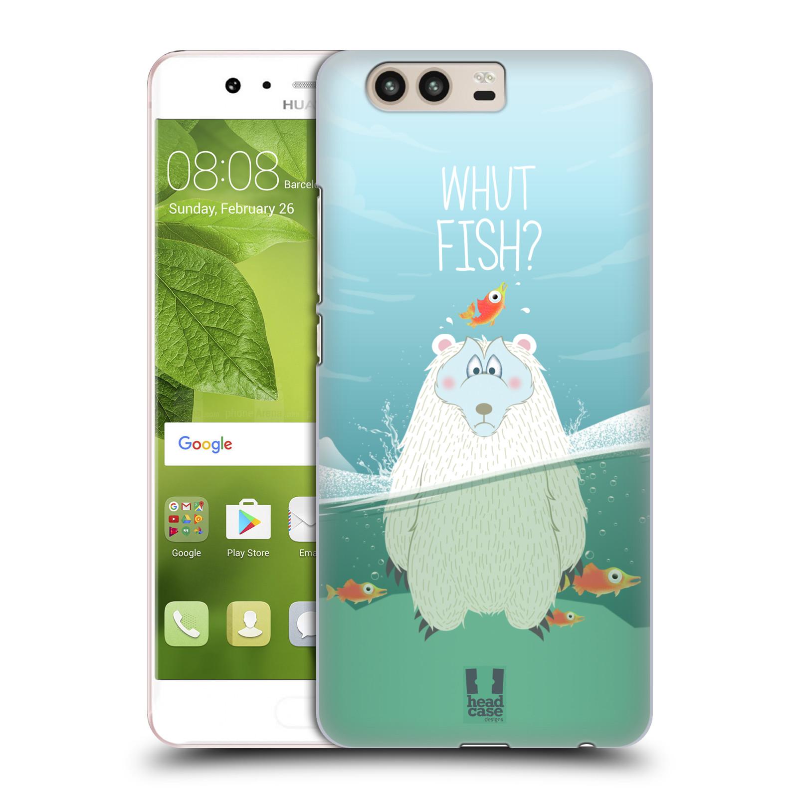 Plastové pouzdro na mobil Huawei P10 - Head Case Medvěd Whut Fish?