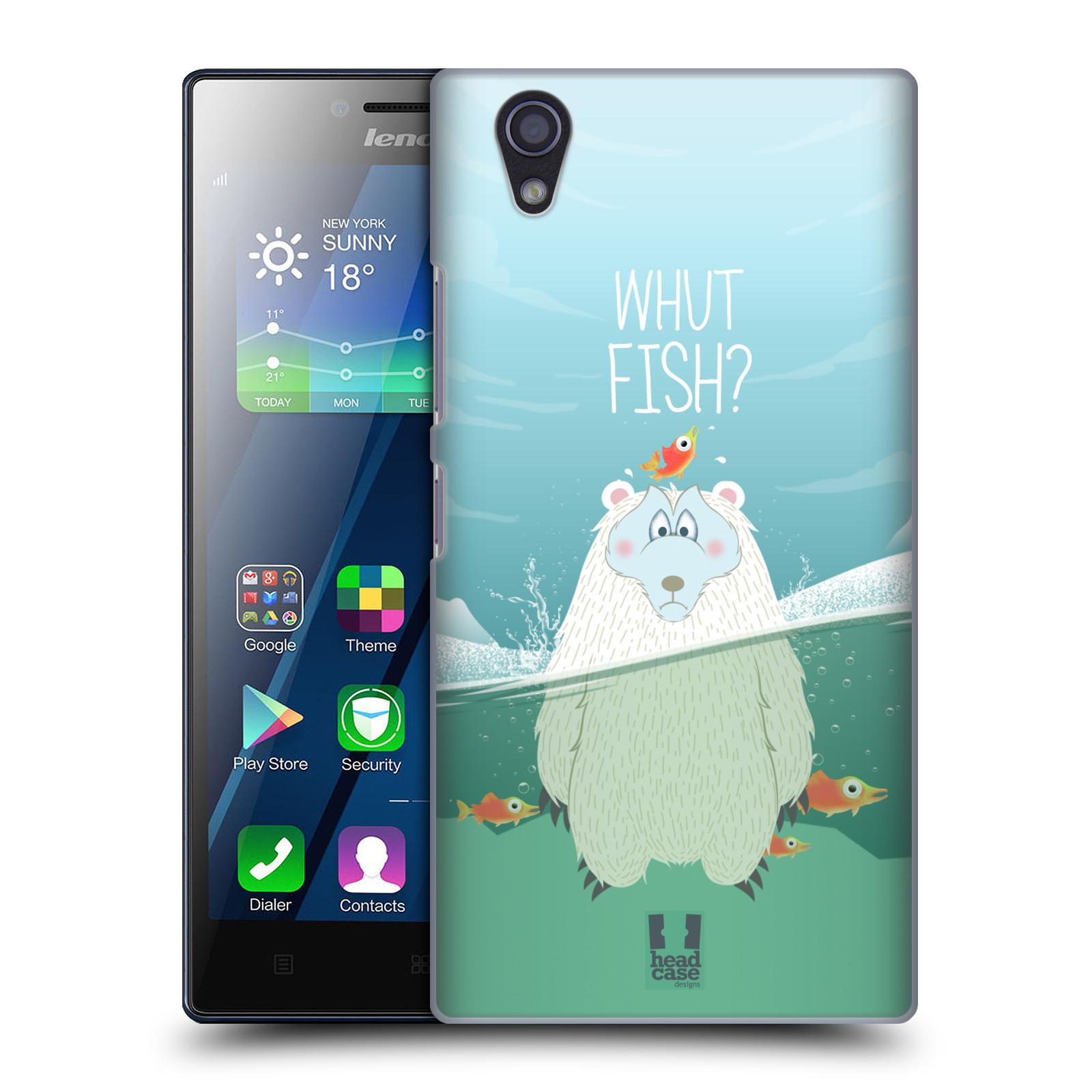 Plastové pouzdro na mobil Lenovo P70 HEAD CASE Medvěd Whut Fish? (Kryt či obal na mobilní telefon Lenovo P70)