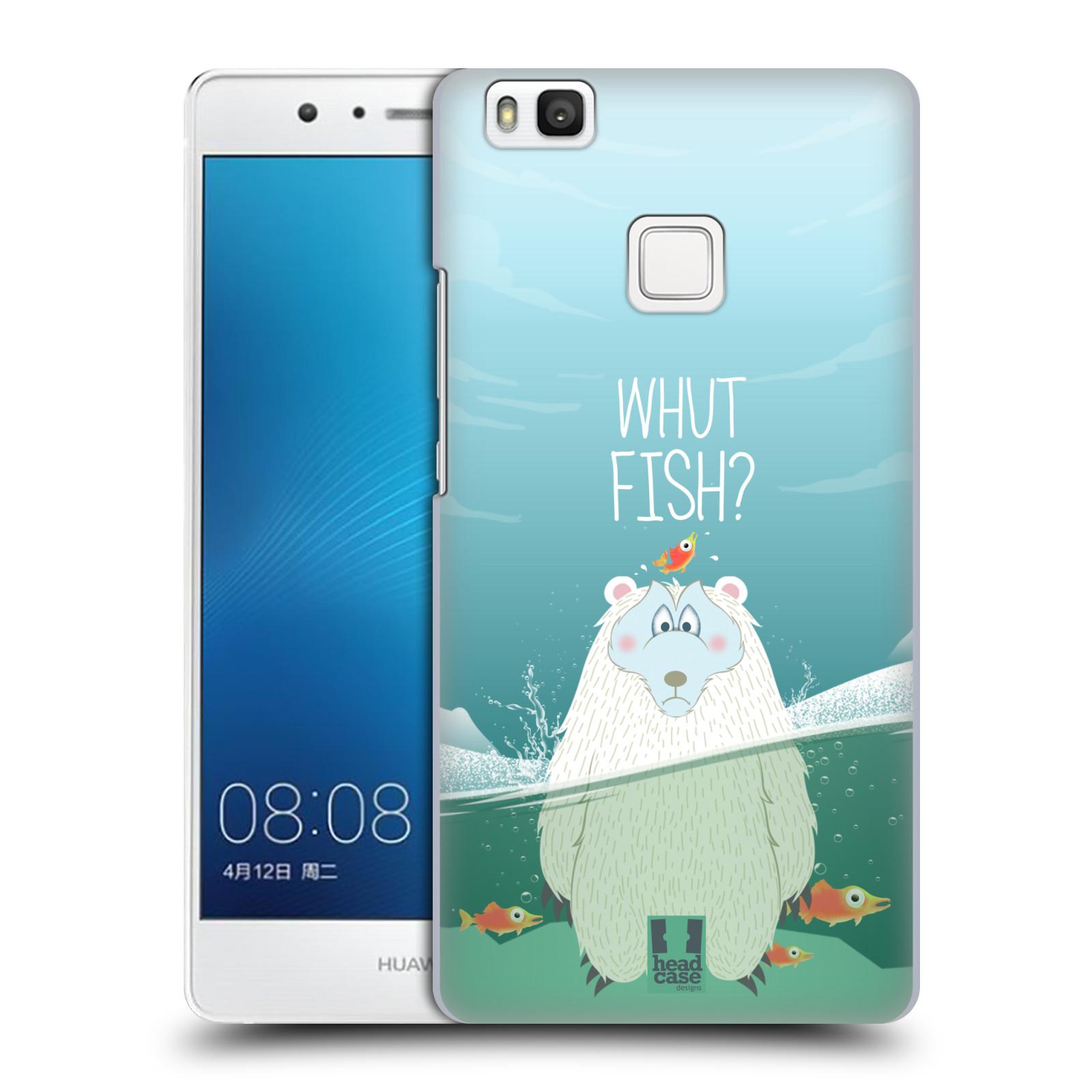 Plastové pouzdro na mobil Huawei P9 Lite HEAD CASE Medvěd Whut Fish?
