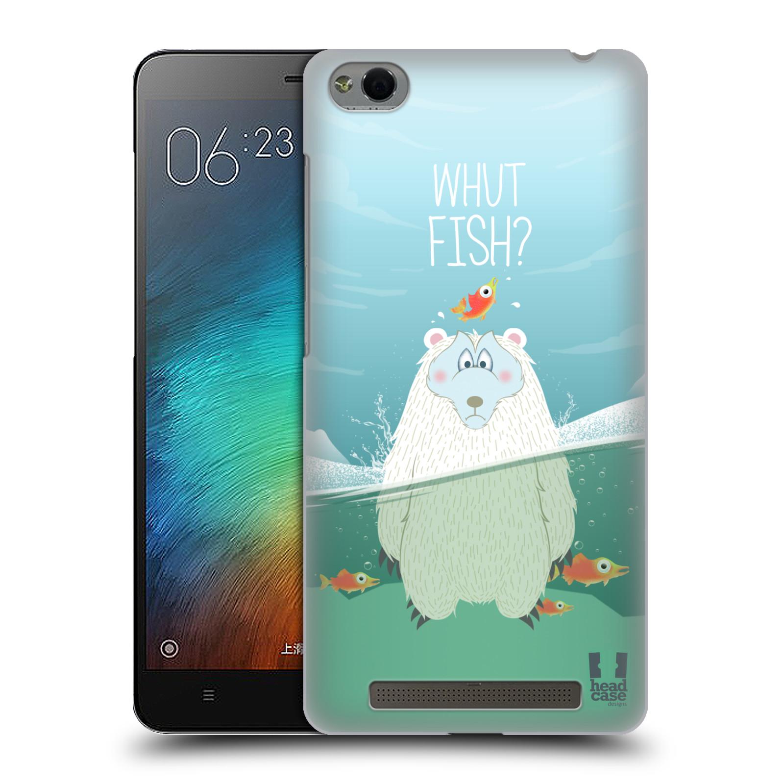 Plastové pouzdro na mobil Xiaomi Redmi 3 HEAD CASE Medvěd Whut Fish?