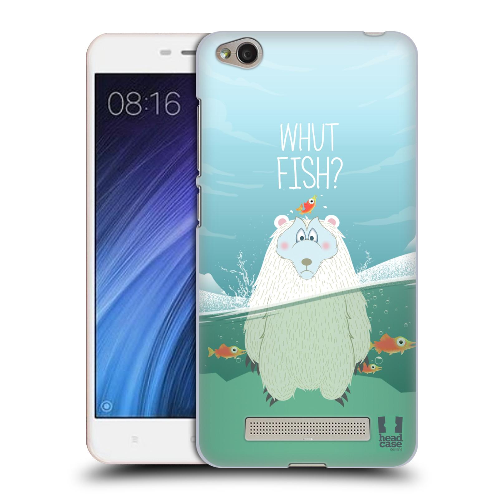 Plastové pouzdro na mobil Xiaomi Redmi 4A HEAD CASE Medvěd Whut Fish?