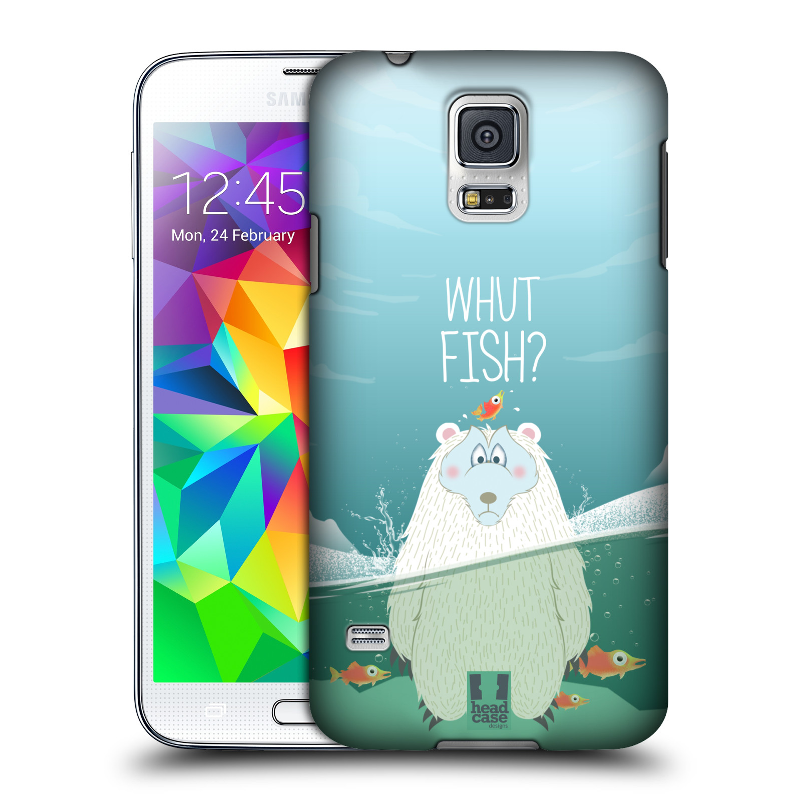 Plastové pouzdro na mobil Samsung Galaxy S5 HEAD CASE Medvěd Whut Fish?