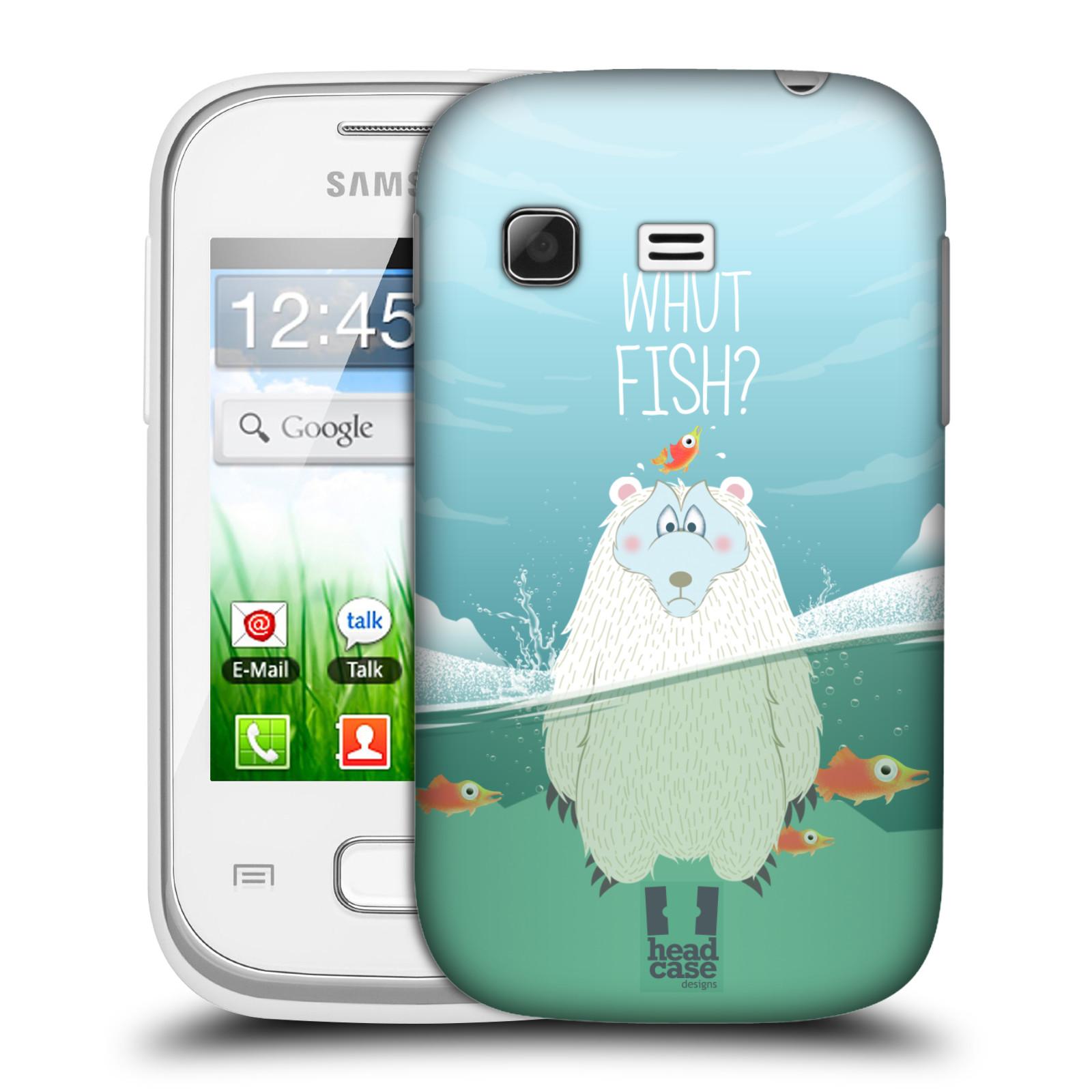 Plastové pouzdro na mobil Samsung Galaxy Pocket HEAD CASE Medvěd Whut Fish? (Kryt či obal na mobilní telefon Samsung Galaxy Pocket GT-S5300)