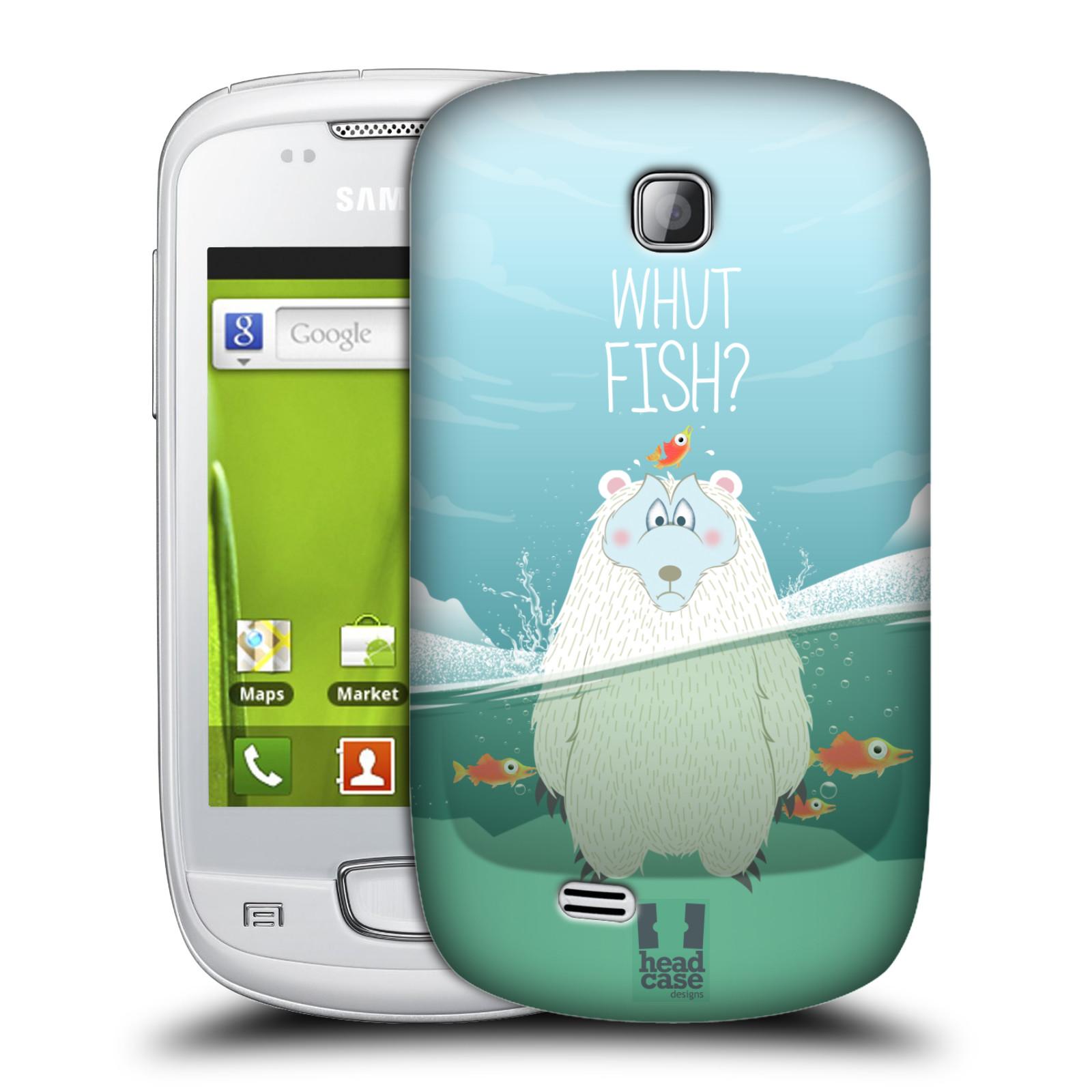 Plastové pouzdro na mobil Samsung Galaxy Mini HEAD CASE Medvěd Whut Fish? (Kryt či obal na mobilní telefon Samsung Galaxy Mini GT-S5570 / GT-S5570i)