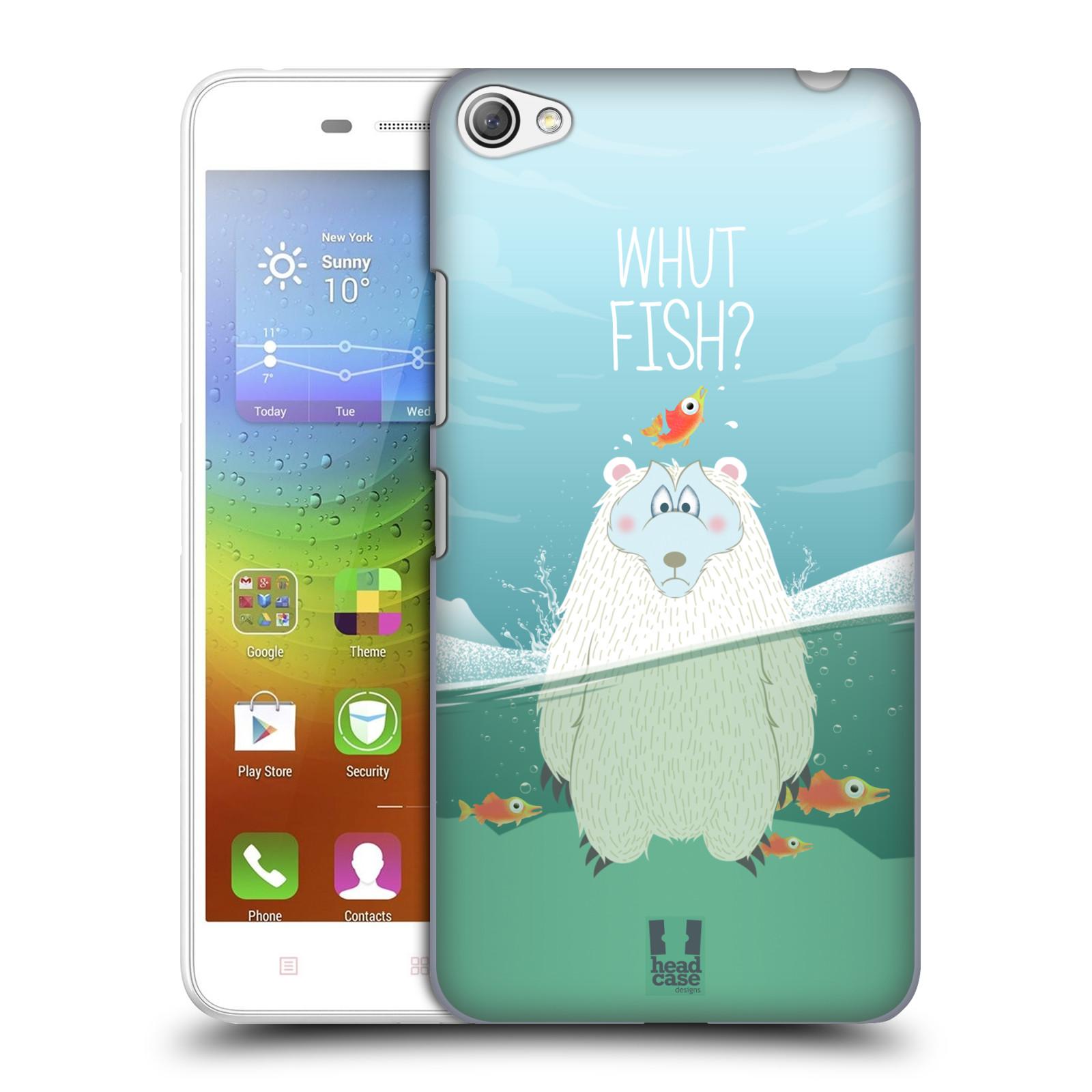 Plastové pouzdro na mobil Lenovo S60 HEAD CASE Medvěd Whut Fish?