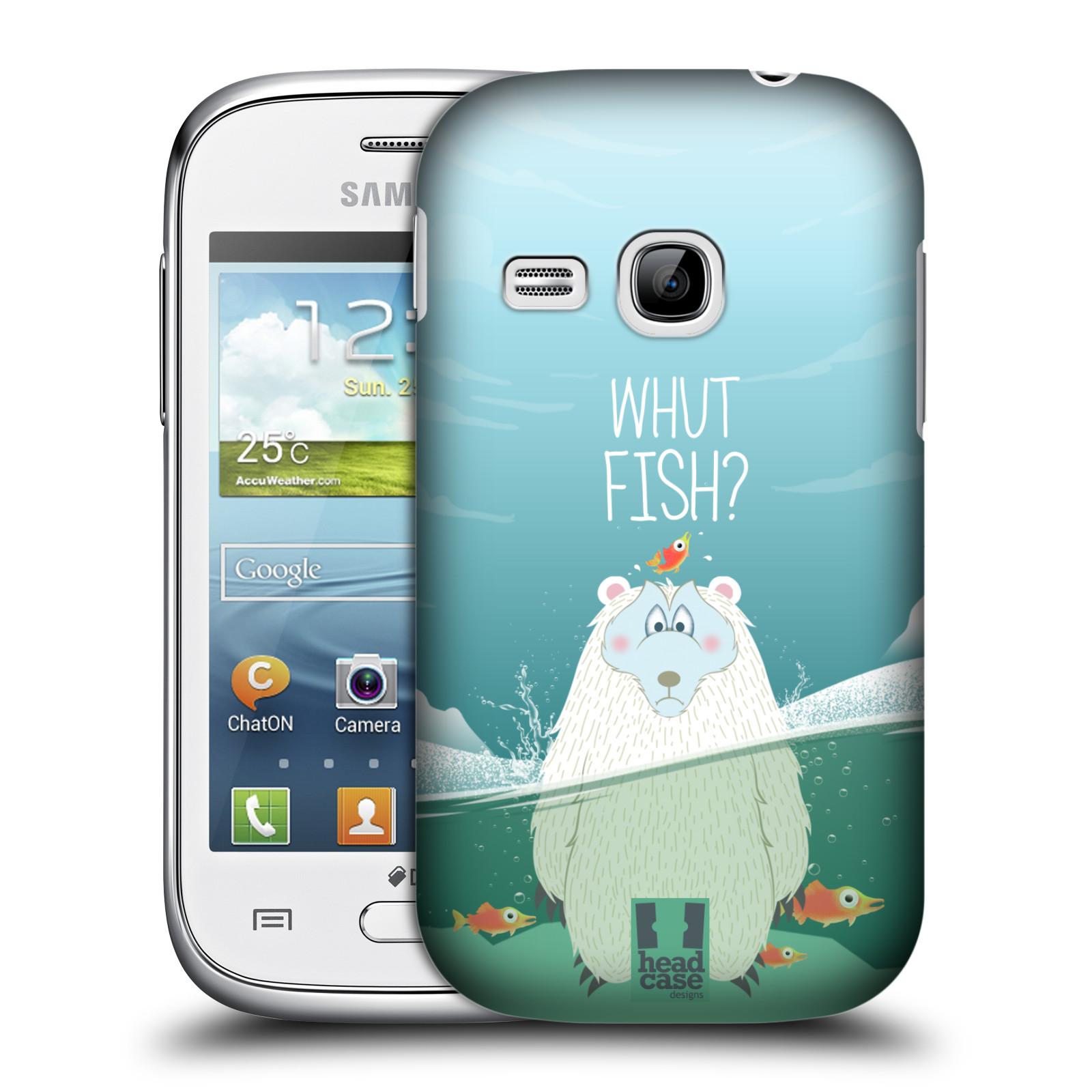Plastové pouzdro na mobil Samsung Galaxy Young HEAD CASE Medvěd Whut Fish? (Kryt či obal na mobilní telefon Samsung Galaxy Young GT-S6310)