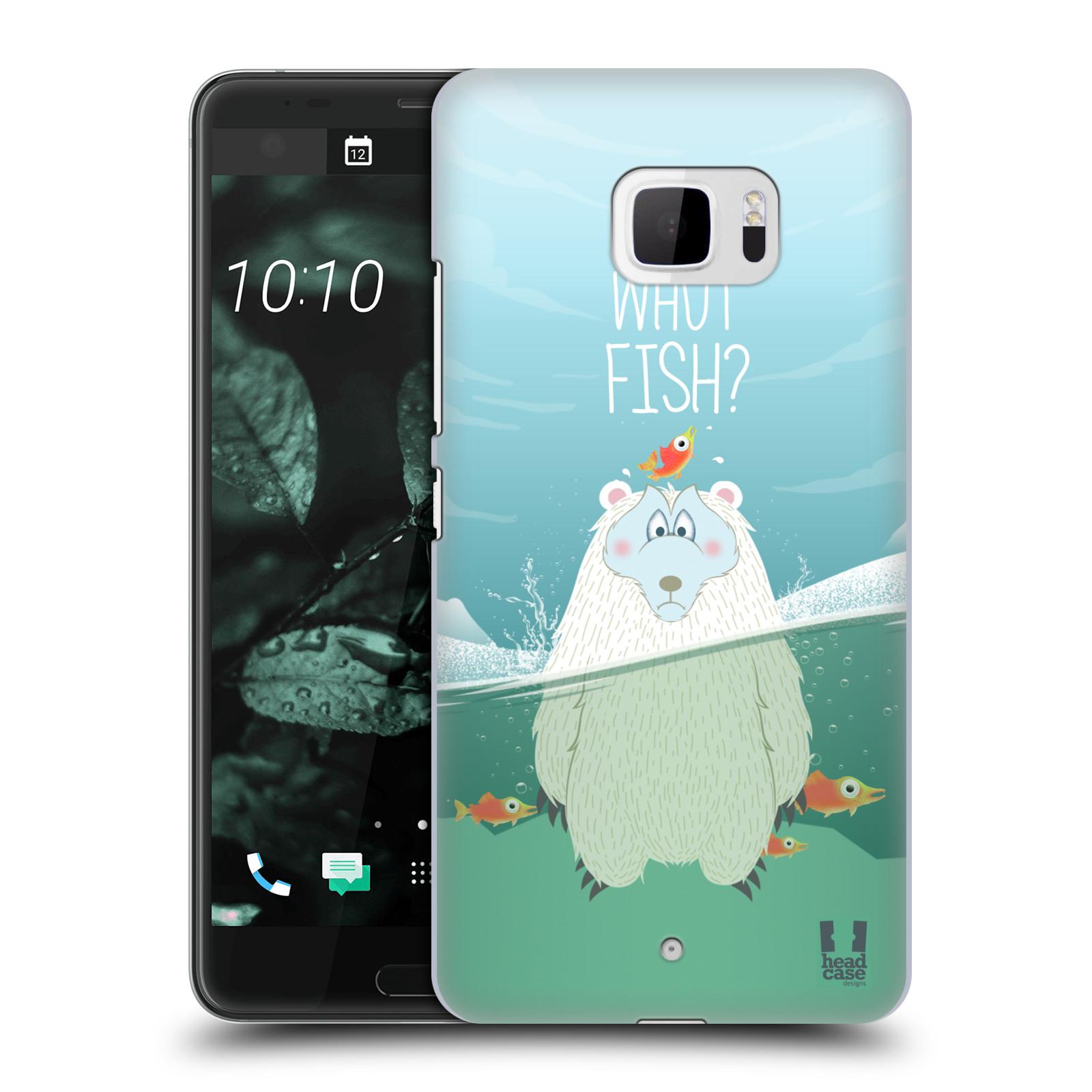 Plastové pouzdro na mobil HTC U Ultra Head Case - Medvěd Whut Fish?