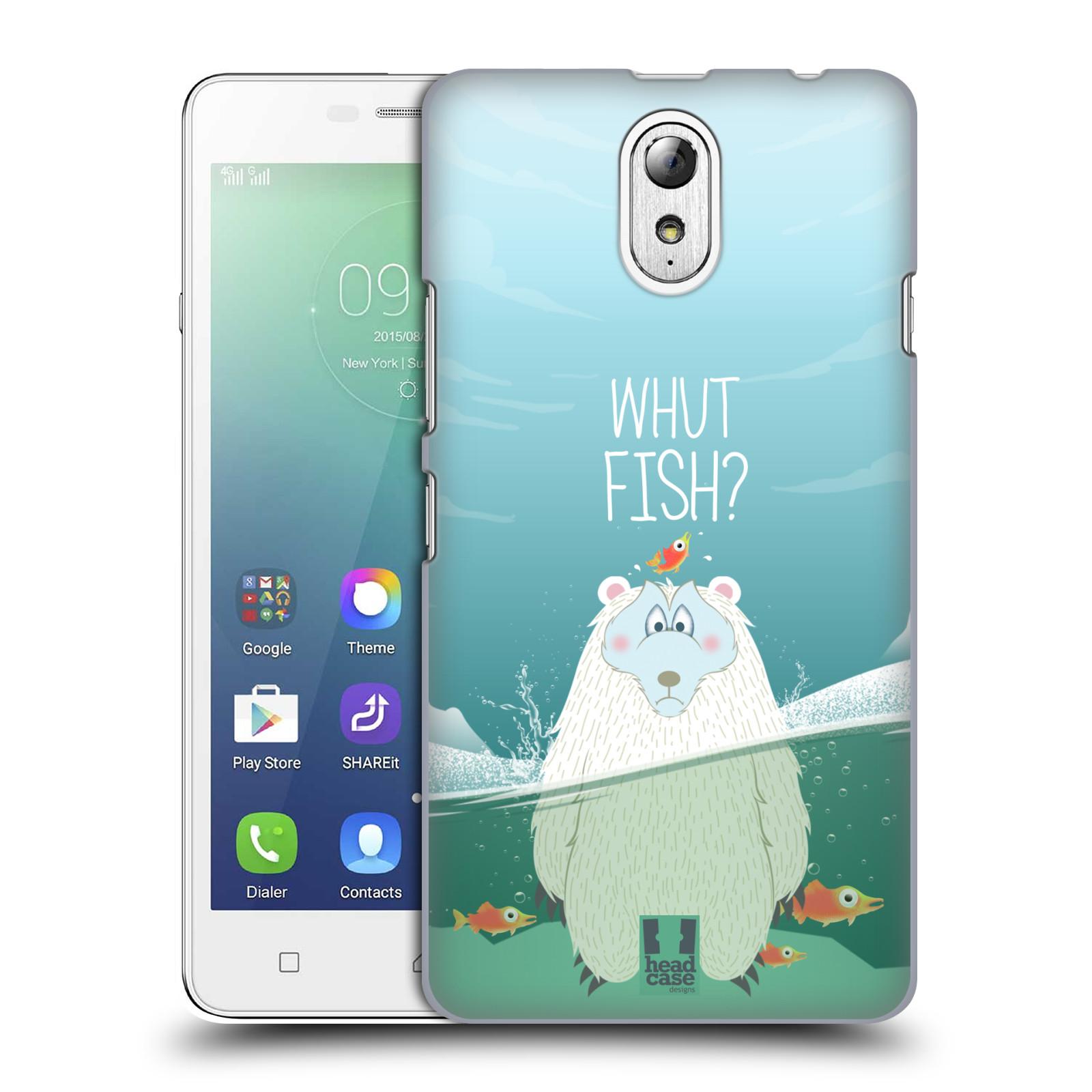 Plastové pouzdro na mobil Lenovo Vibe P1m HEAD CASE Medvěd Whut Fish?