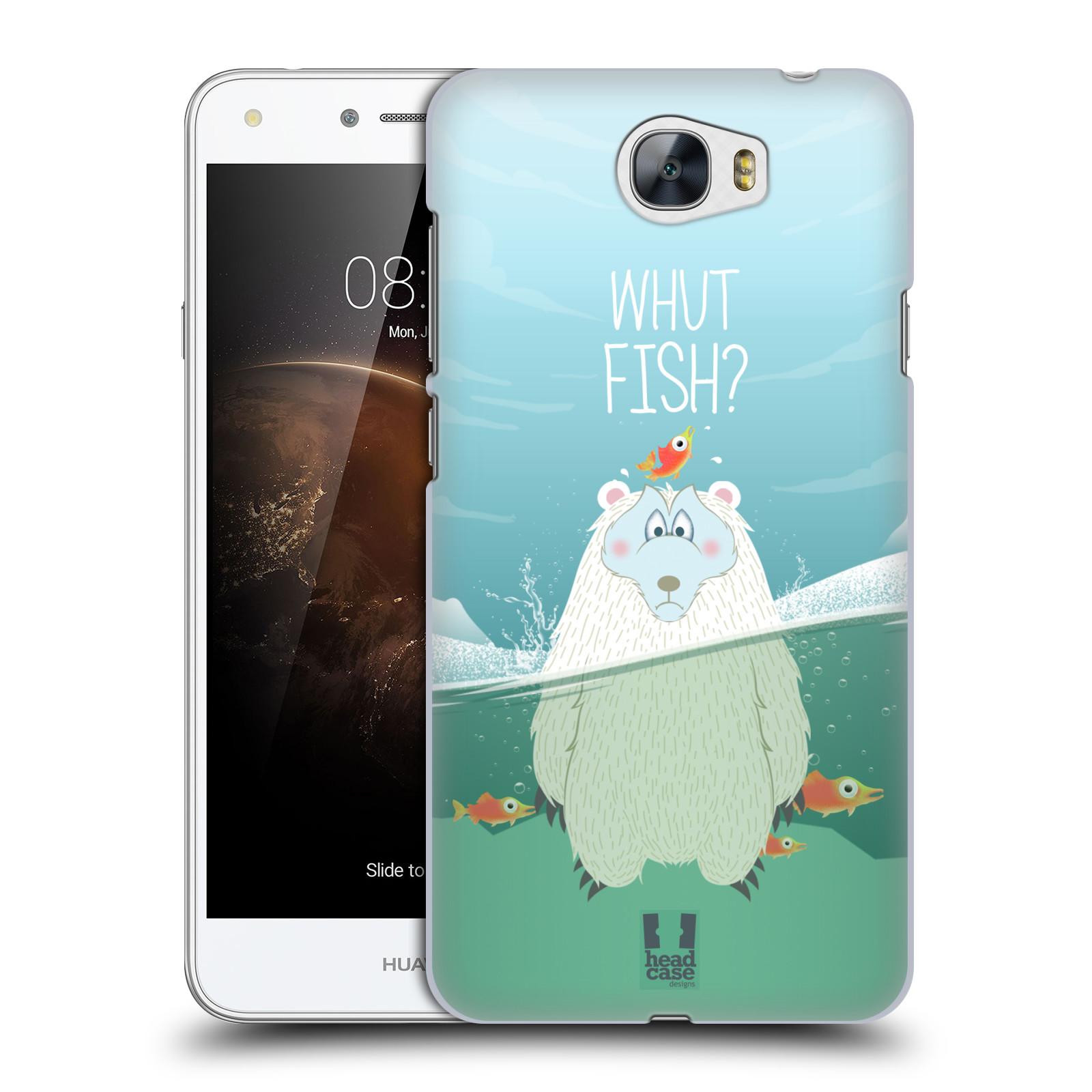 Plastové pouzdro na mobil Huawei Y5 II HEAD CASE Medvěd Whut Fish?