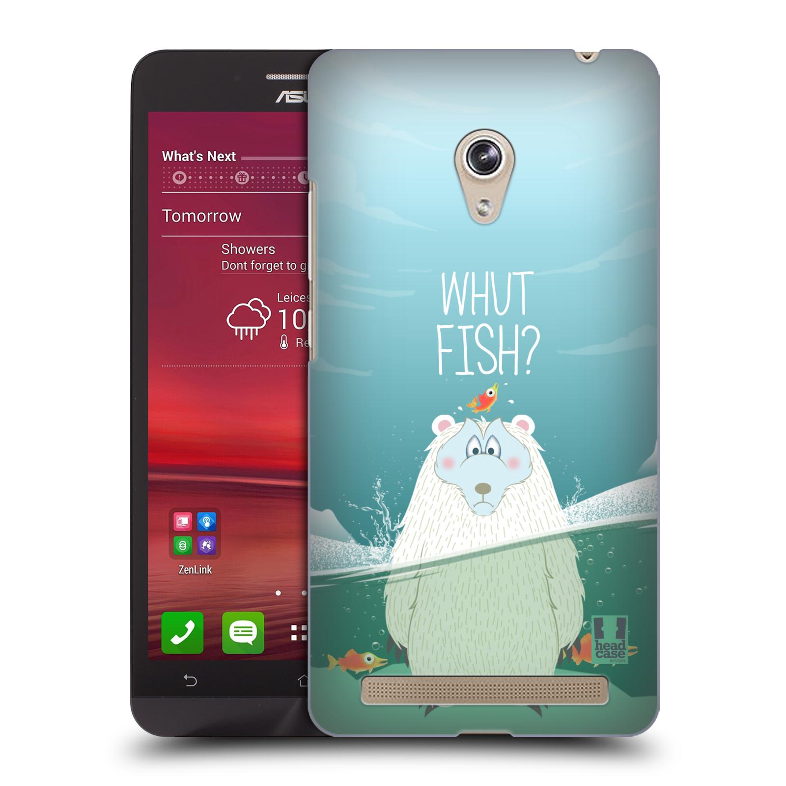 Plastové pouzdro na mobil Asus Zenfone 6 HEAD CASE Medvěd Whut Fish? (Kryt či obal na mobilní telefon Asus Zenfone 6 A600CG / A601CG)