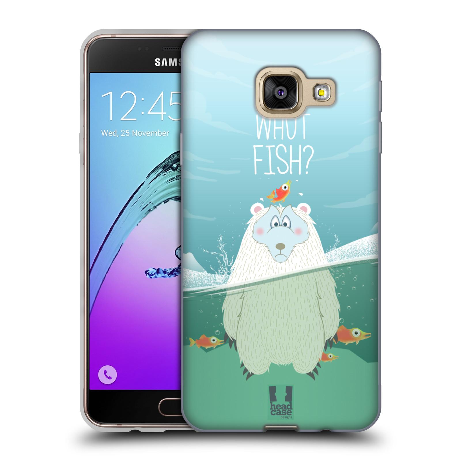 Silikonové pouzdro na mobil Samsung Galaxy A3 (2016) HEAD CASE Medvěd Whut Fish?