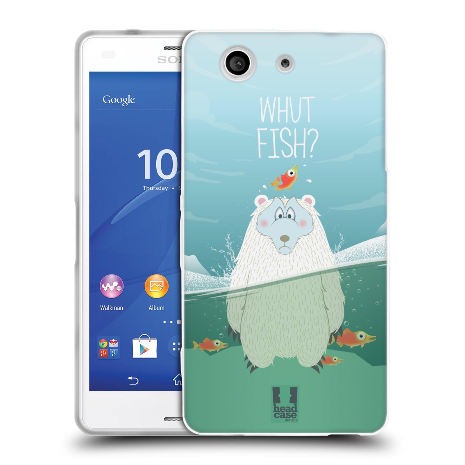 Silikonové pouzdro na mobil Sony Xperia Z3 Compact D5803 HEAD CASE Medvěd Whut Fish?