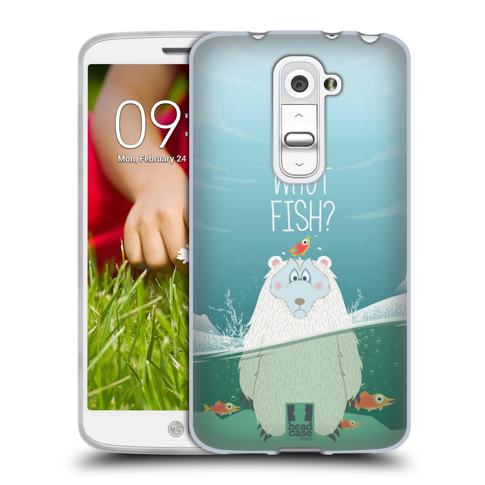 Silikonové pouzdro na mobil LG G2 Mini HEAD CASE Medvěd Whut Fish? (Silikonový kryt či obal na mobilní telefon LG G2 Mini D620)