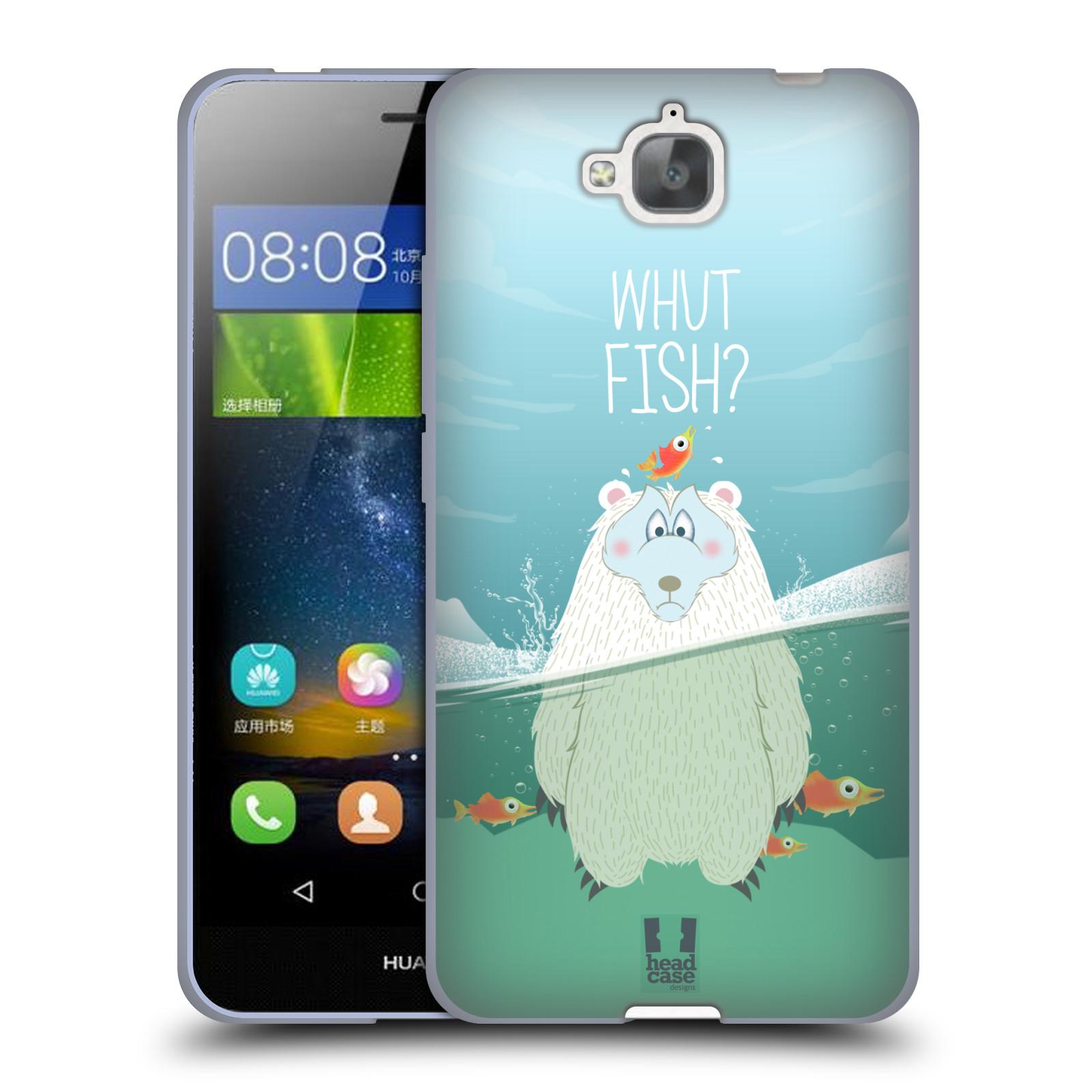 Silikonové pouzdro na mobil Huawei Y6 Pro Dual Sim HEAD CASE Medvěd Whut Fish?