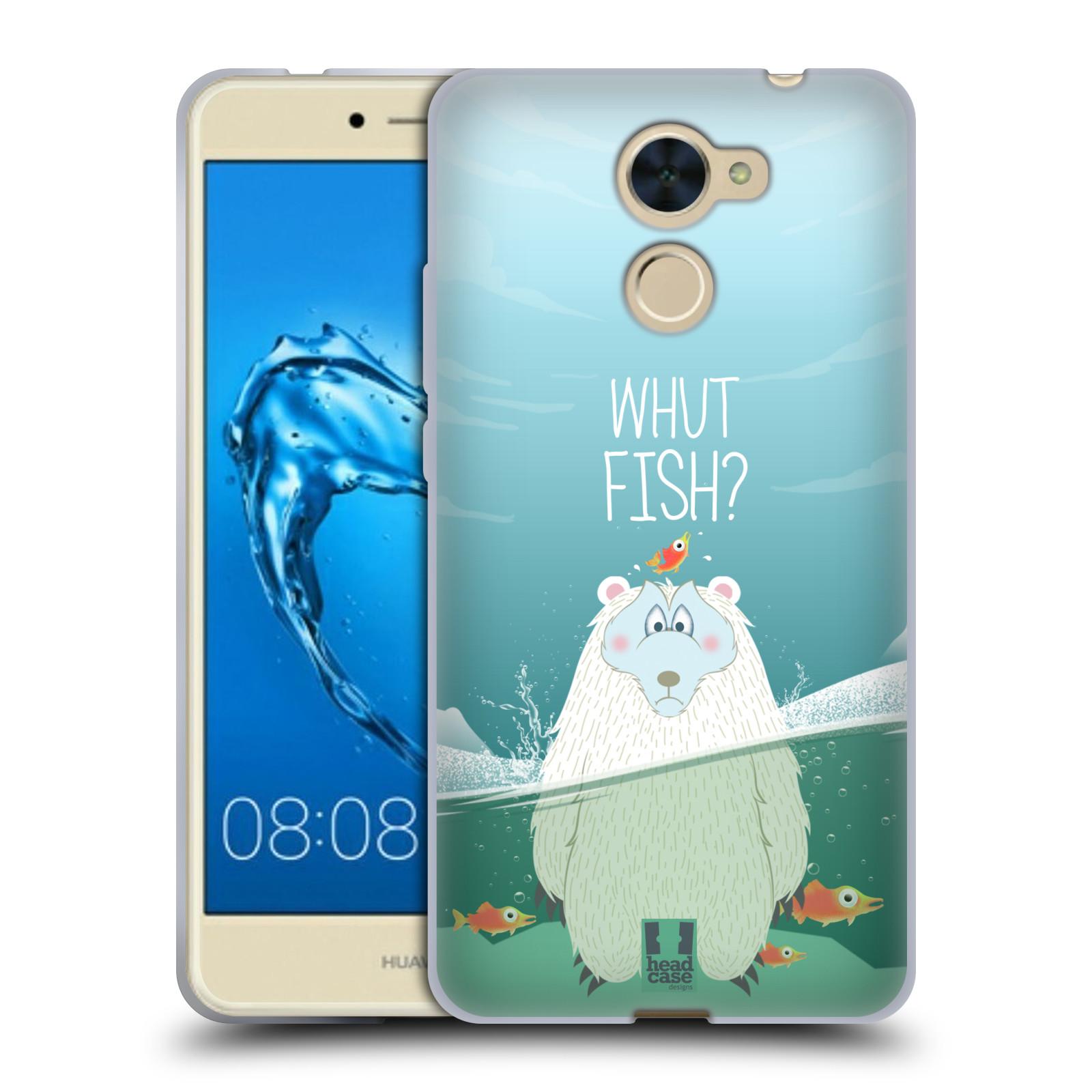 Silikonové pouzdro na mobil Huawei Y7 - Head Case - Medvěd Whut Fish?