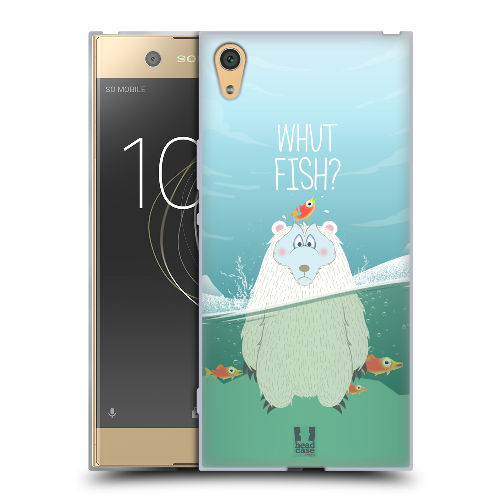 Silikonové pouzdro na mobil Sony Xperia XA1 Ultra - Head Case - Medvěd Whut Fish?