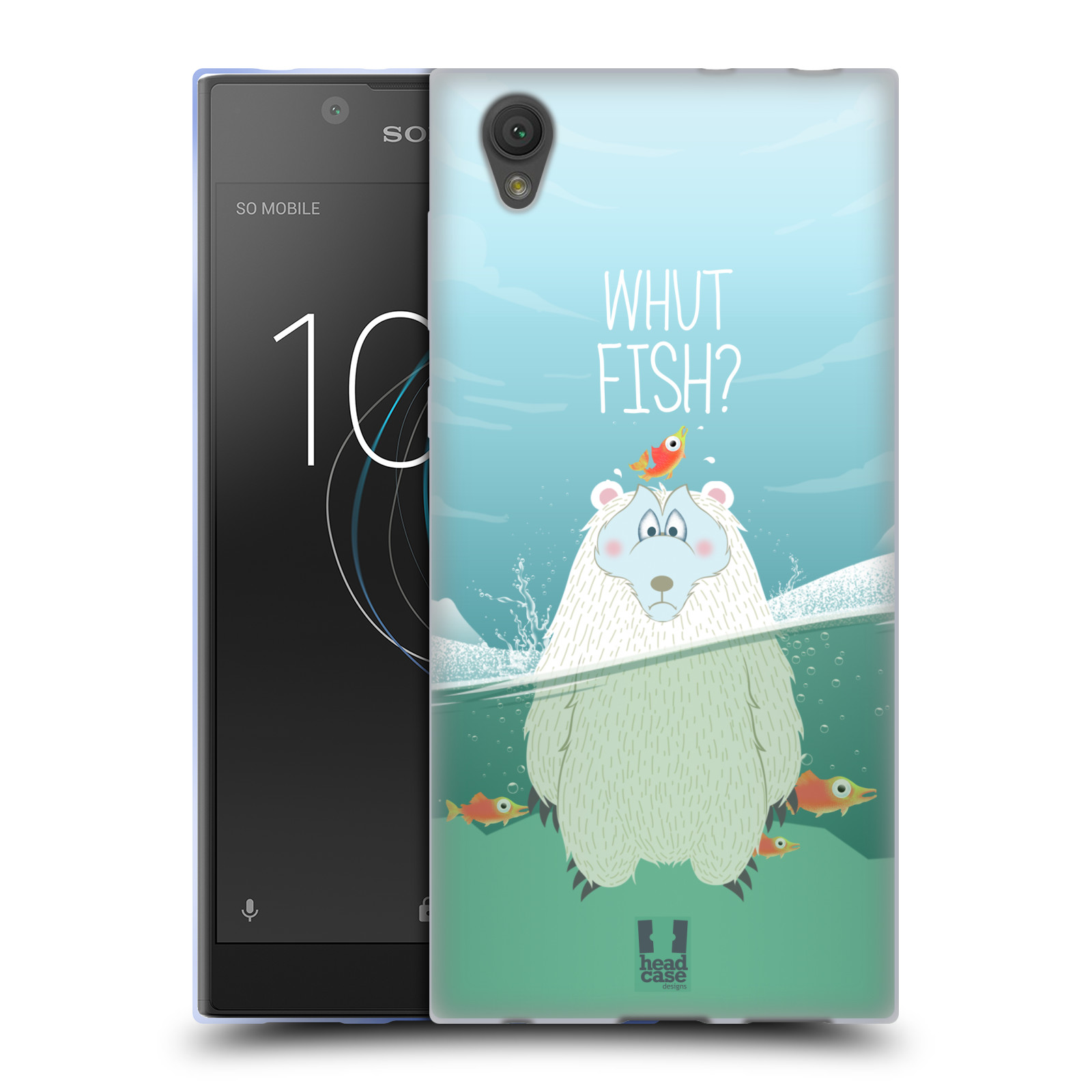 Silikonové pouzdro na mobil Sony Xperia L1 - Head Case - Medvěd Whut Fish?