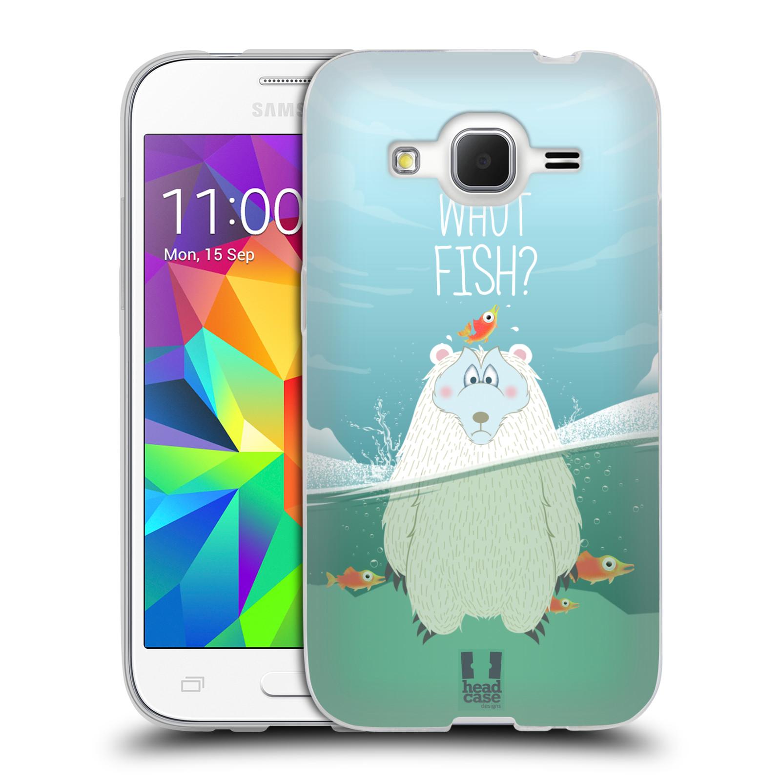 Silikonové pouzdro na mobil Samsung Galaxy Core Prime LTE HEAD CASE Medvěd Whut Fish?