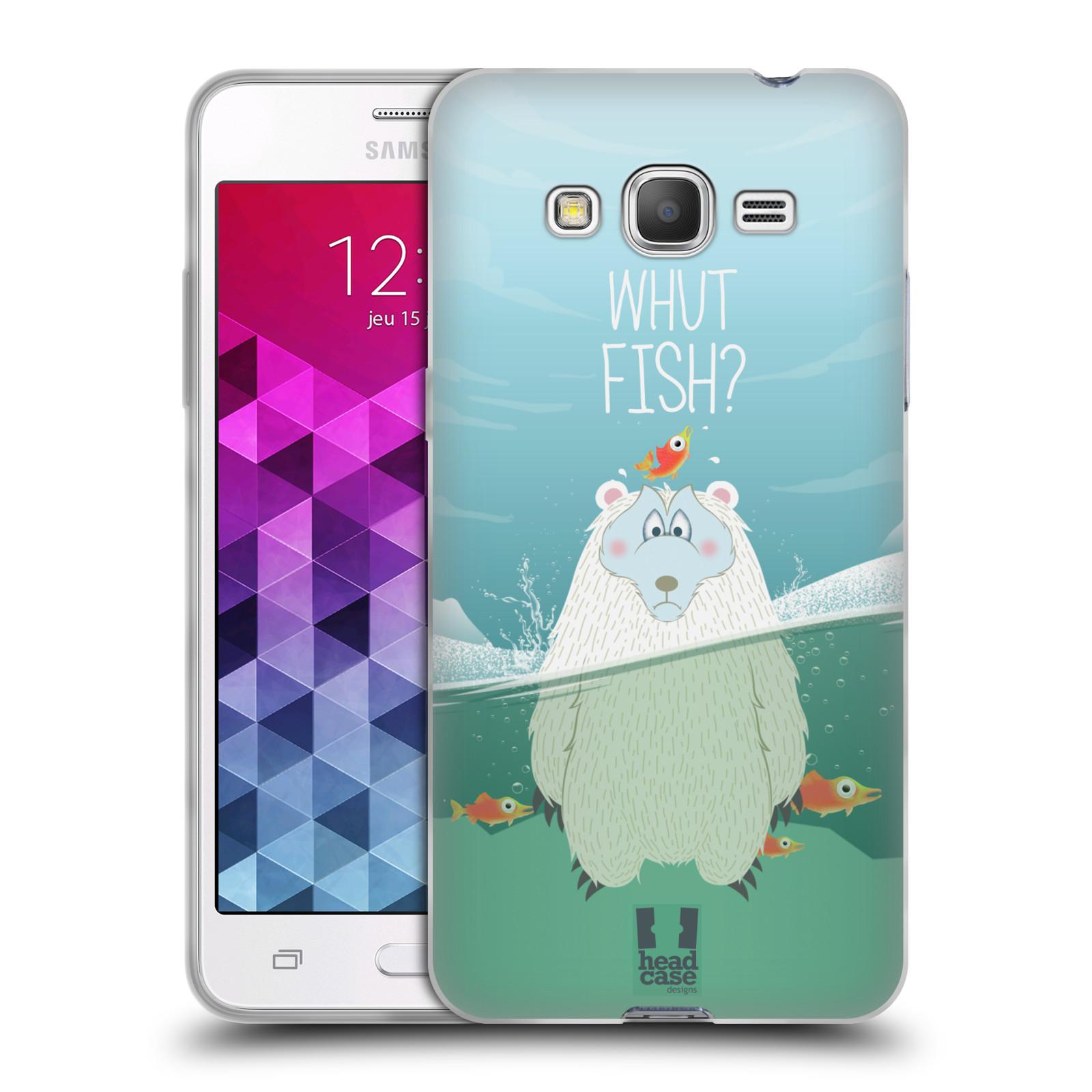 Silikonové pouzdro na mobil Samsung Galaxy Grand Prime HEAD CASE Medvěd Whut Fish?