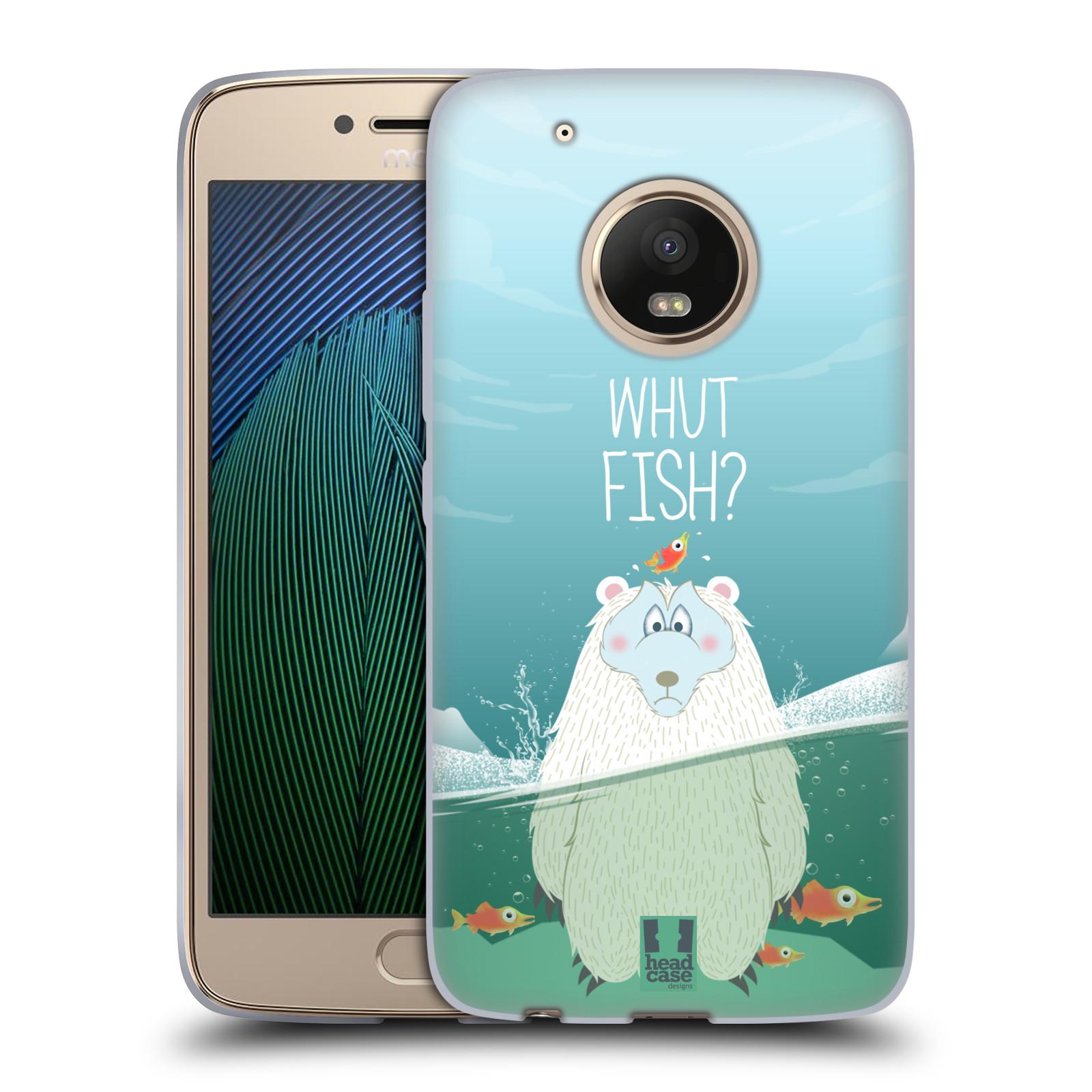 Silikonové pouzdro na mobil Lenovo Moto G5 Plus - Head Case Medvěd Whut Fish?