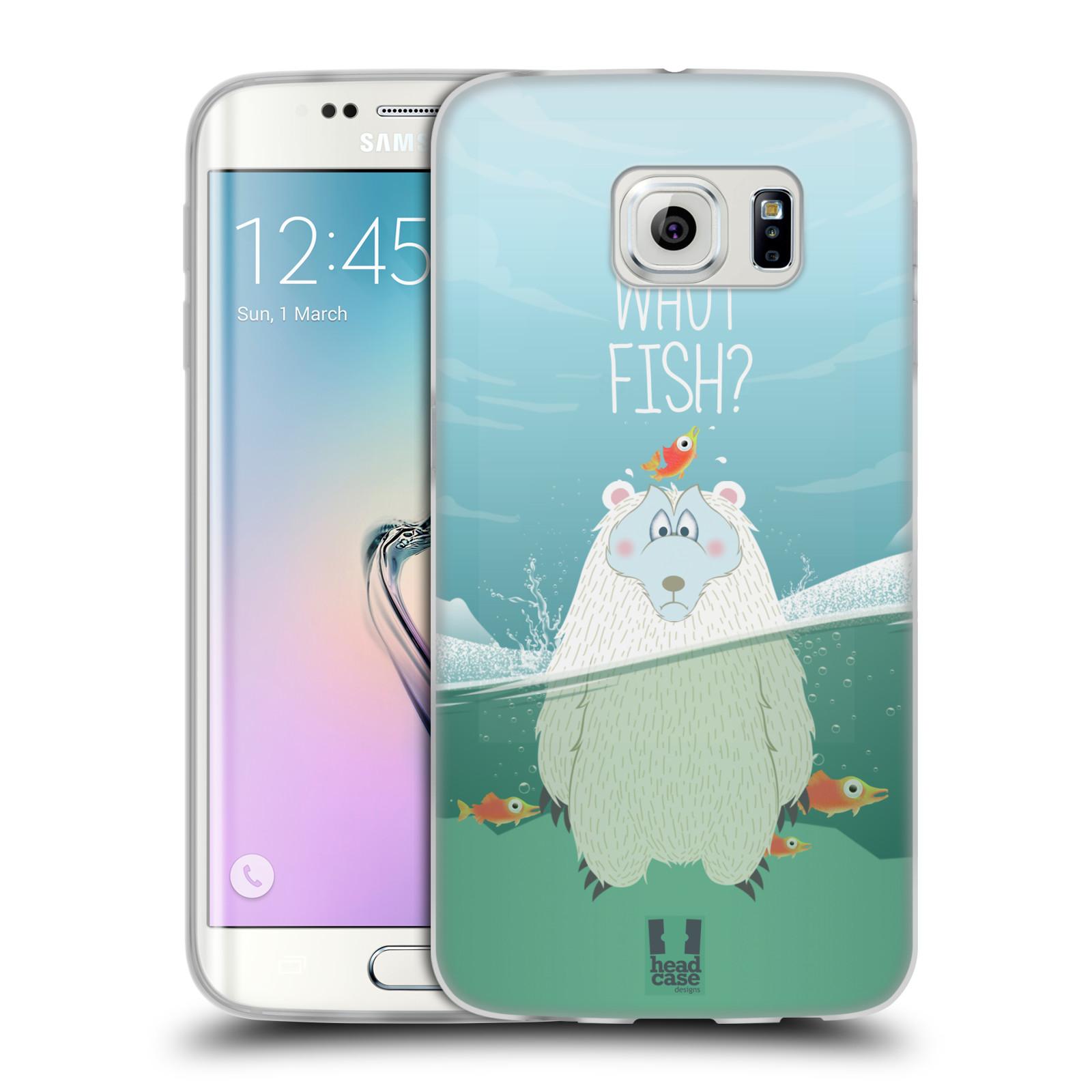 Silikonové pouzdro na mobil Samsung Galaxy S6 Edge HEAD CASE Medvěd Whut Fish? (Silikonový kryt či obal na mobilní telefon Samsung Galaxy S6 Edge SM-G925F)