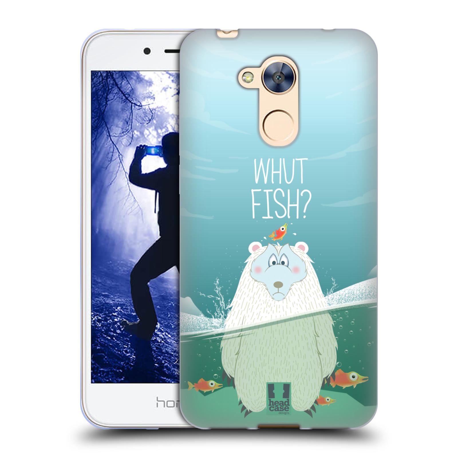 Silikonové pouzdro na mobil Honor 6A - Head Case - Medvěd Whut Fish?