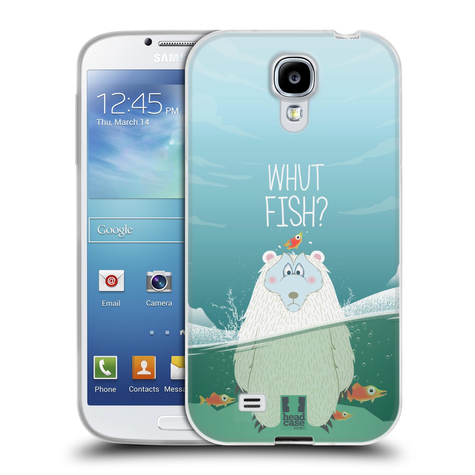Silikonové pouzdro na mobil Samsung Galaxy S4 HEAD CASE Medvěd Whut Fish? (Silikonový kryt či obal na mobilní telefon Samsung Galaxy S4 GT-i9505 / i9500)