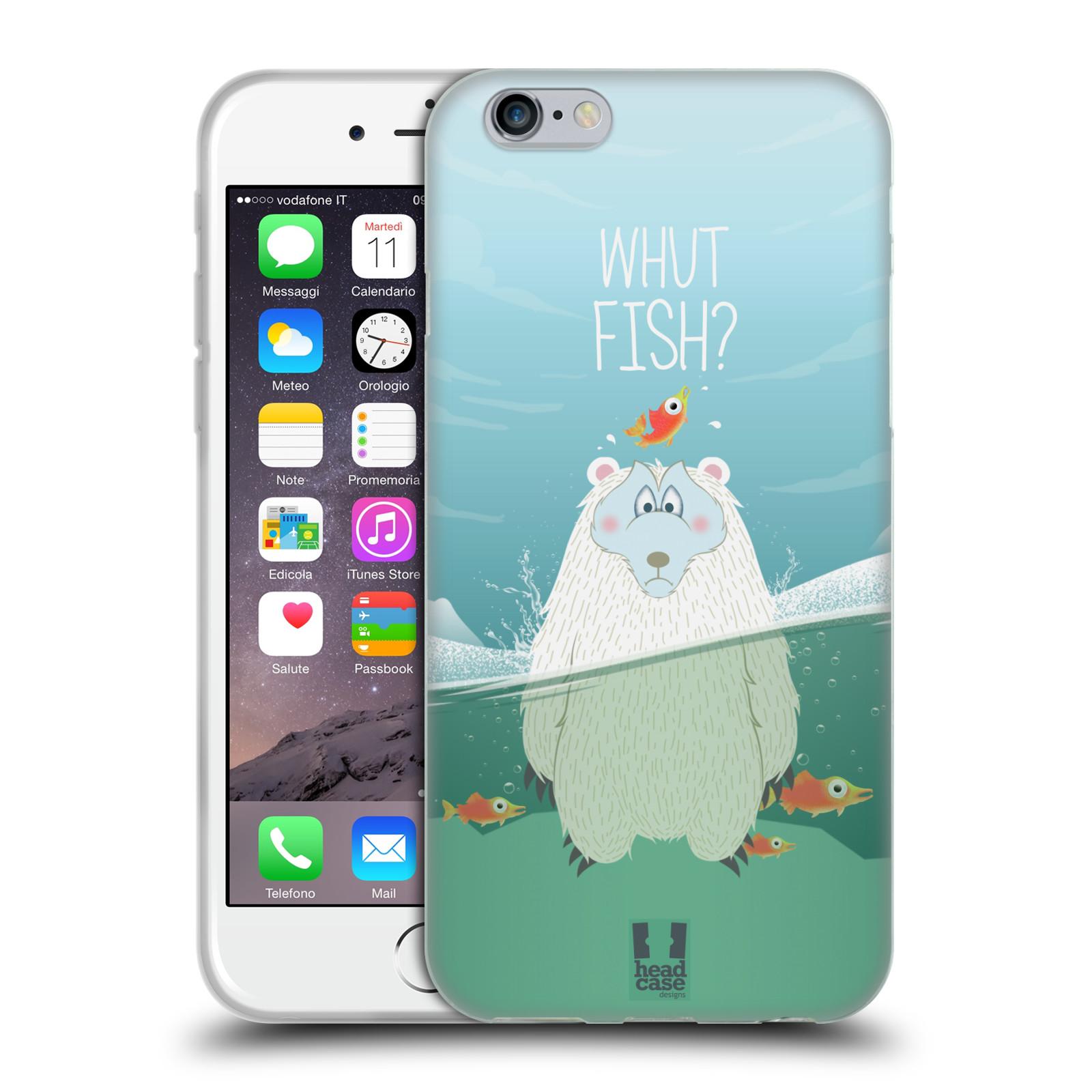 Silikonové pouzdro na mobil Apple iPhone 6 HEAD CASE Medvěd Whut Fish?