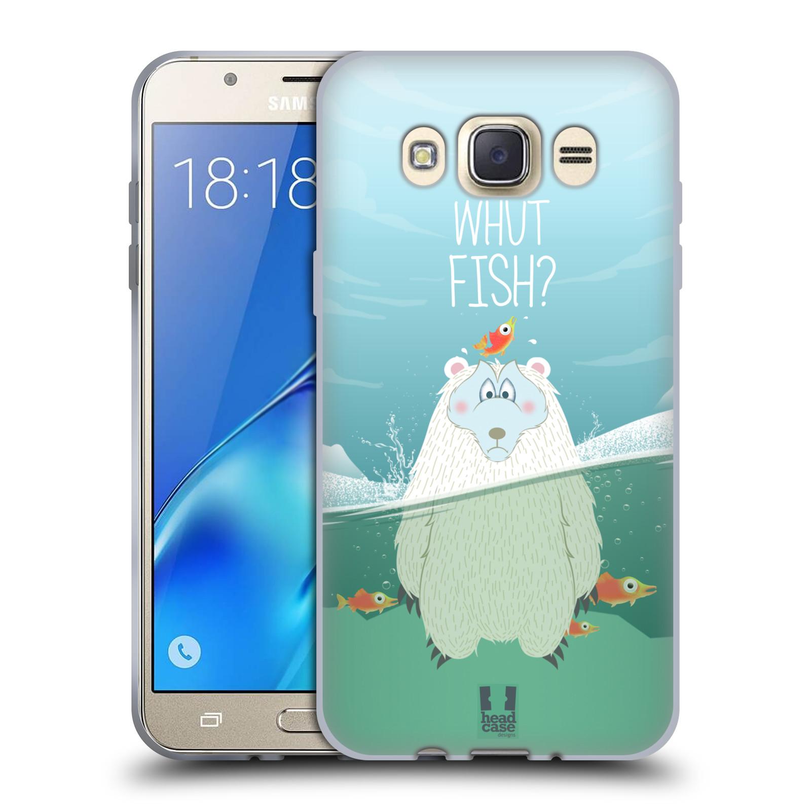 Silikonové pouzdro na mobil Samsung Galaxy J7 (2016) HEAD CASE Medvěd Whut Fish?