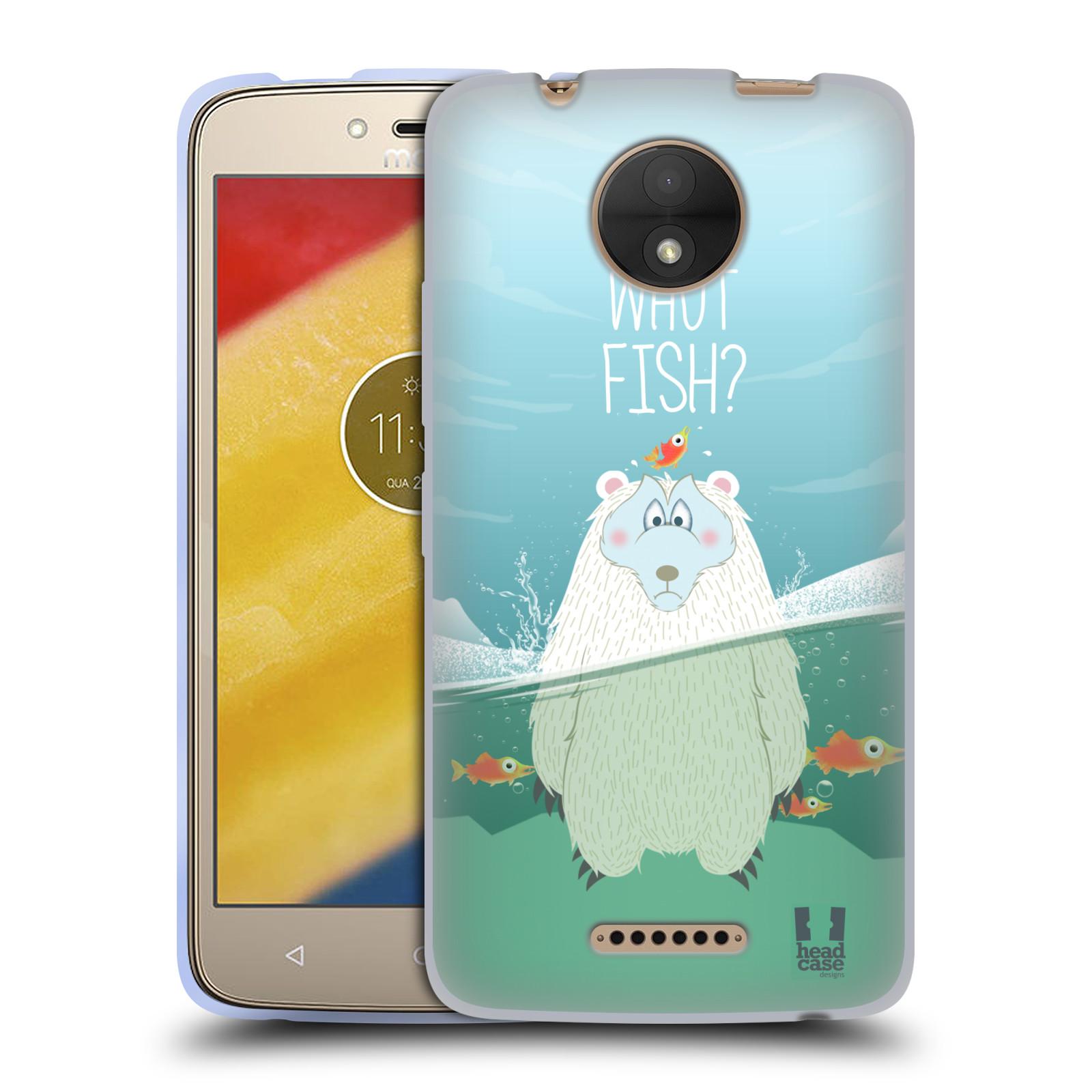 Silikonové pouzdro na mobil Lenovo Moto C - Head Case - Medvěd Whut Fish?