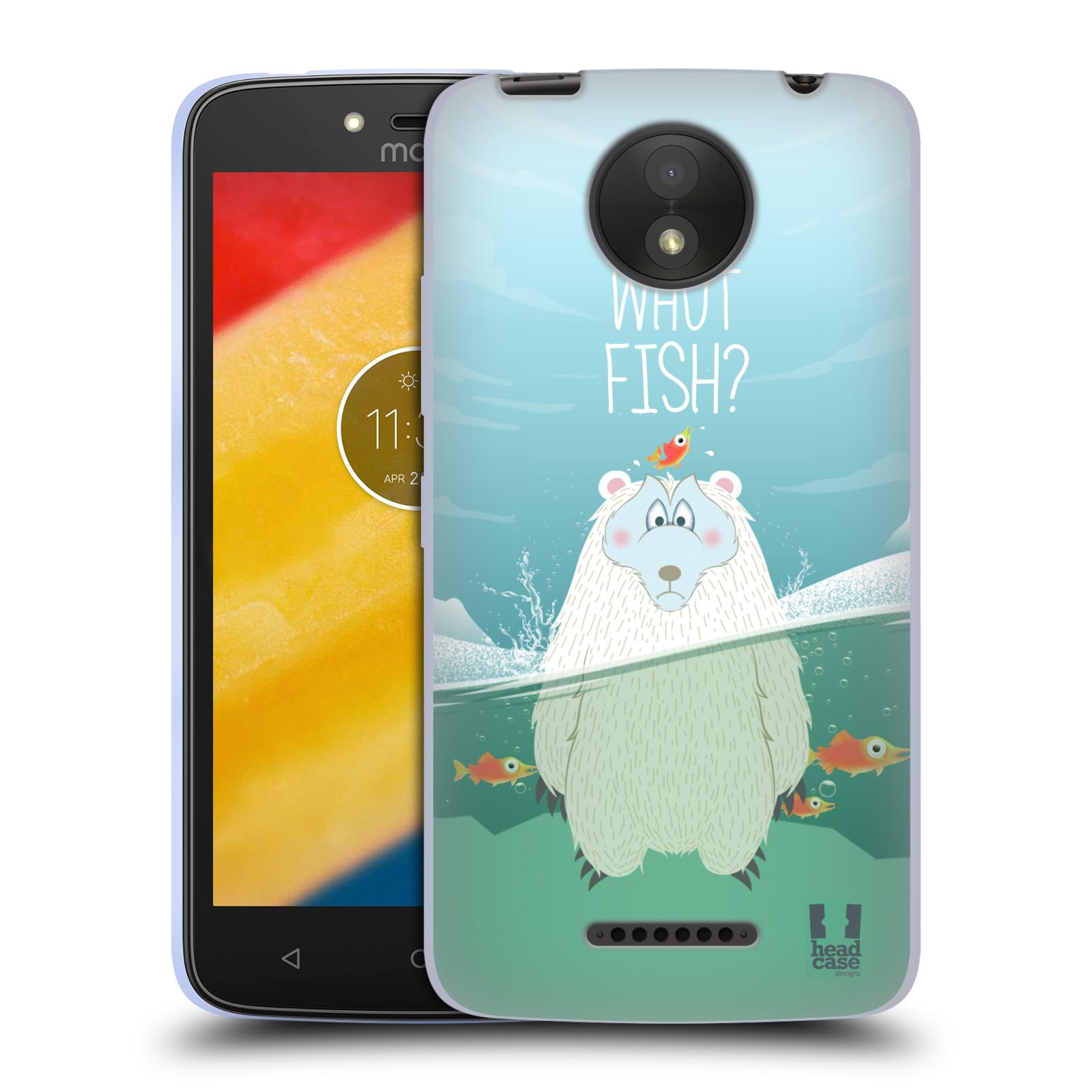 Silikonové pouzdro na mobil Lenovo Moto C Plus - Head Case - Medvěd Whut Fish?