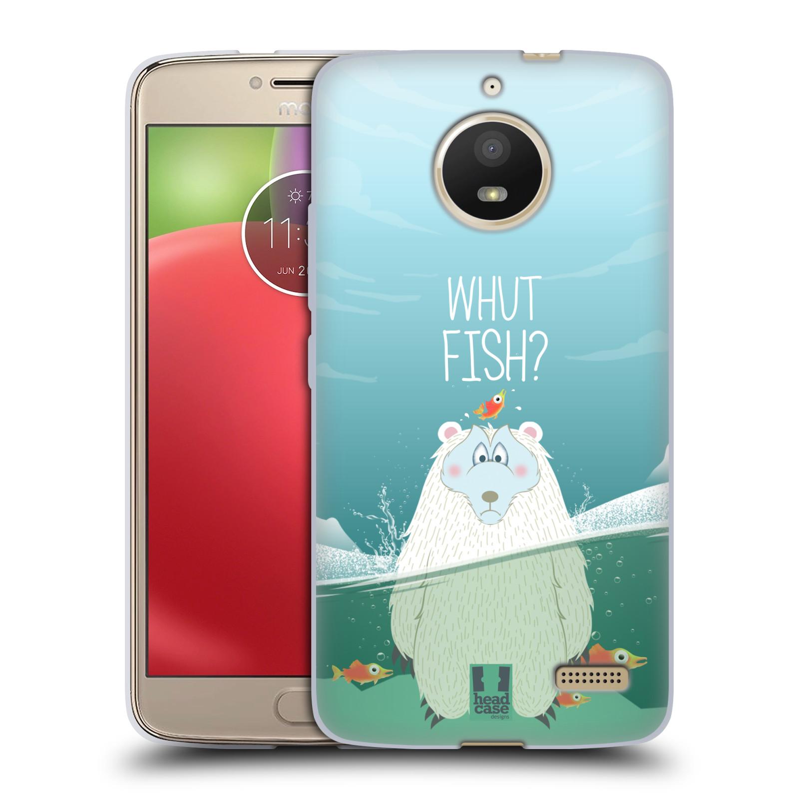 Silikonové pouzdro na mobil Lenovo Moto E4 - Head Case - Medvěd Whut Fish?