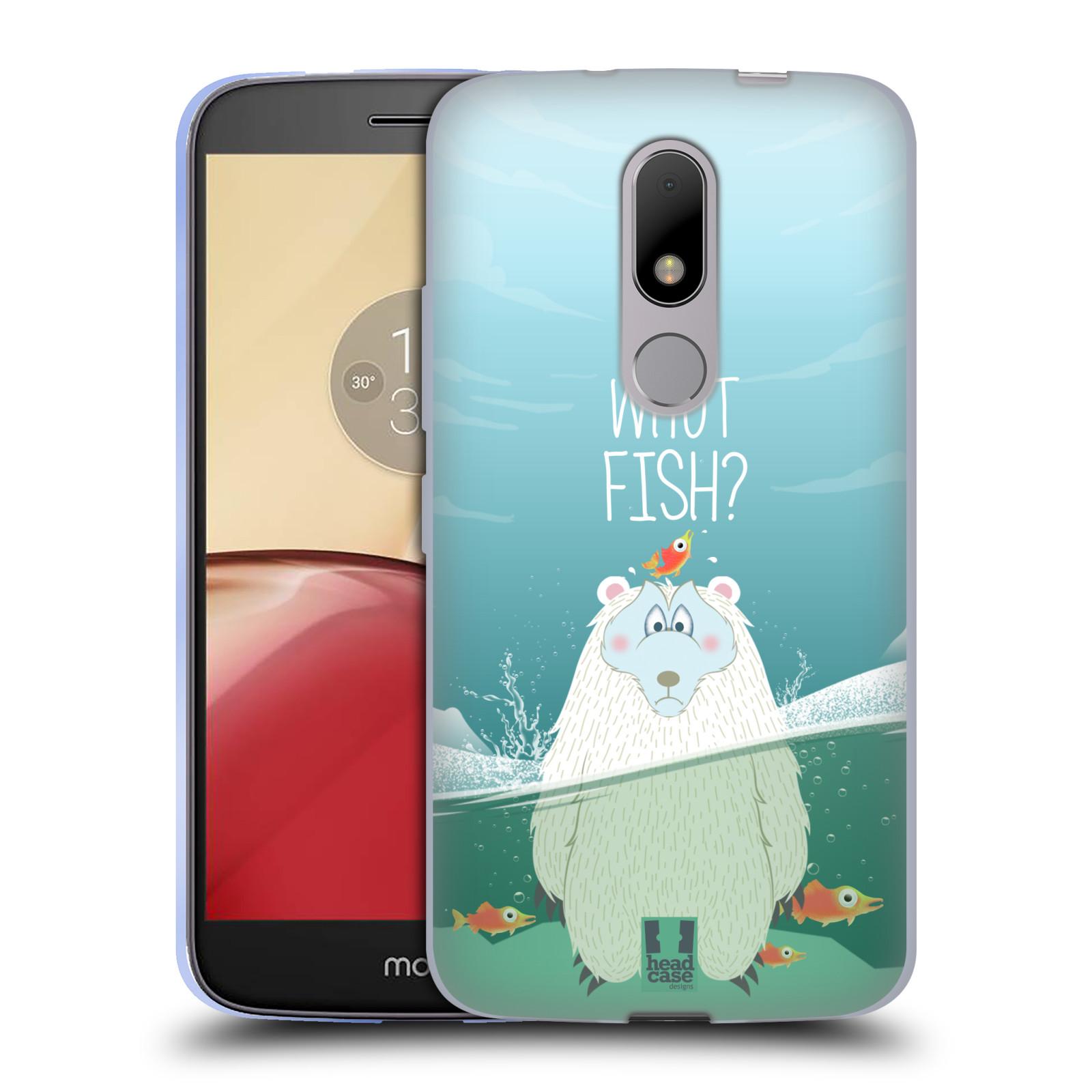 Silikonové pouzdro na mobil Lenovo Moto M - Head Case Medvěd Whut Fish?