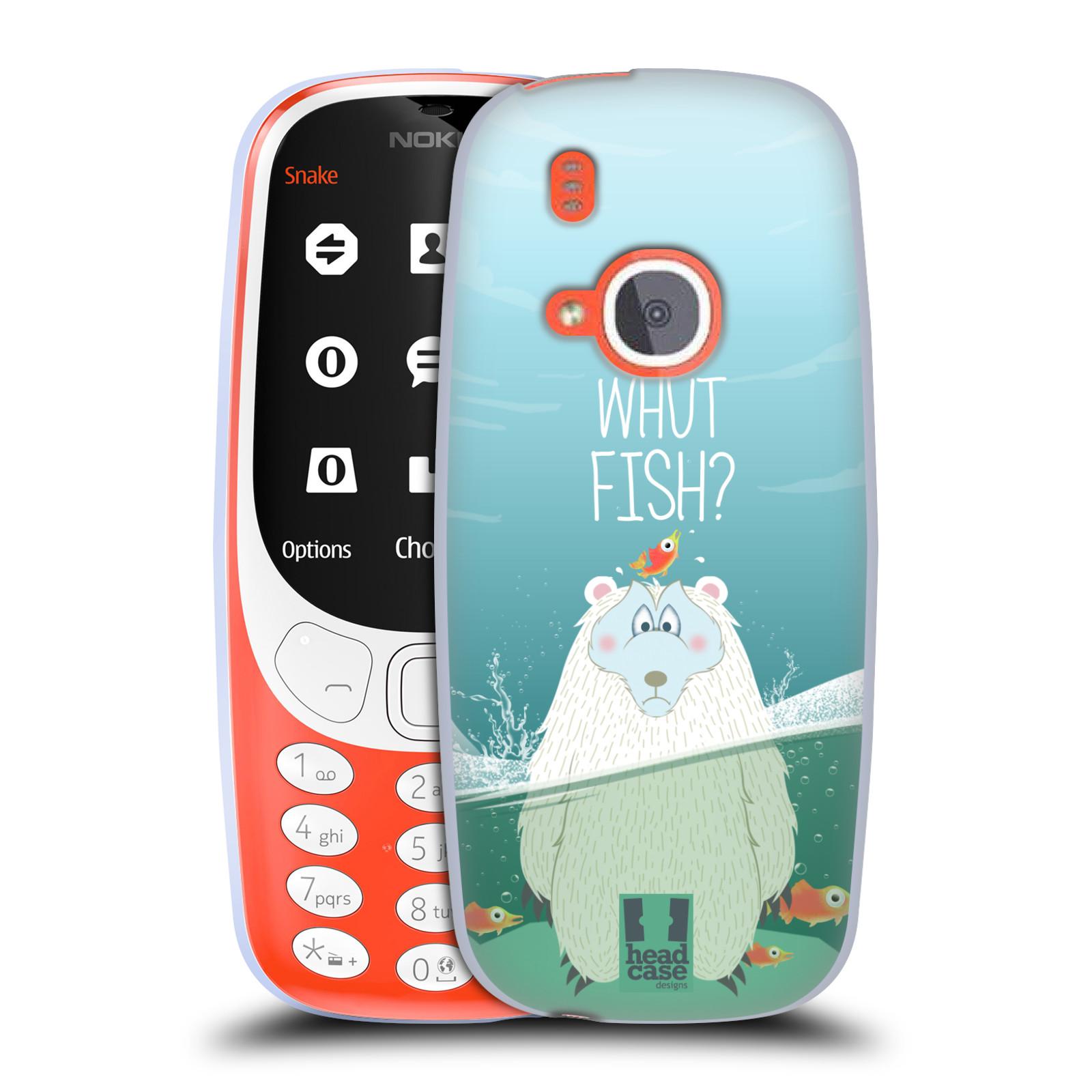 Silikonové pouzdro na mobil Nokia 3310 - Head Case - Medvěd Whut Fish?