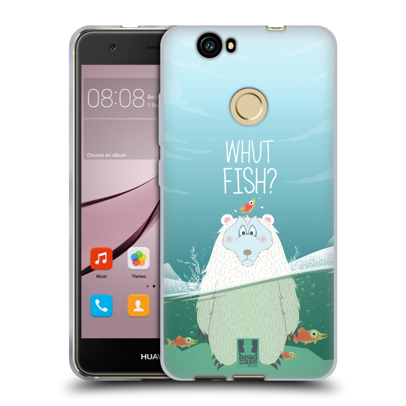Silikonové pouzdro na mobil Huawei Nova - Head Case - Medvěd Whut Fish?