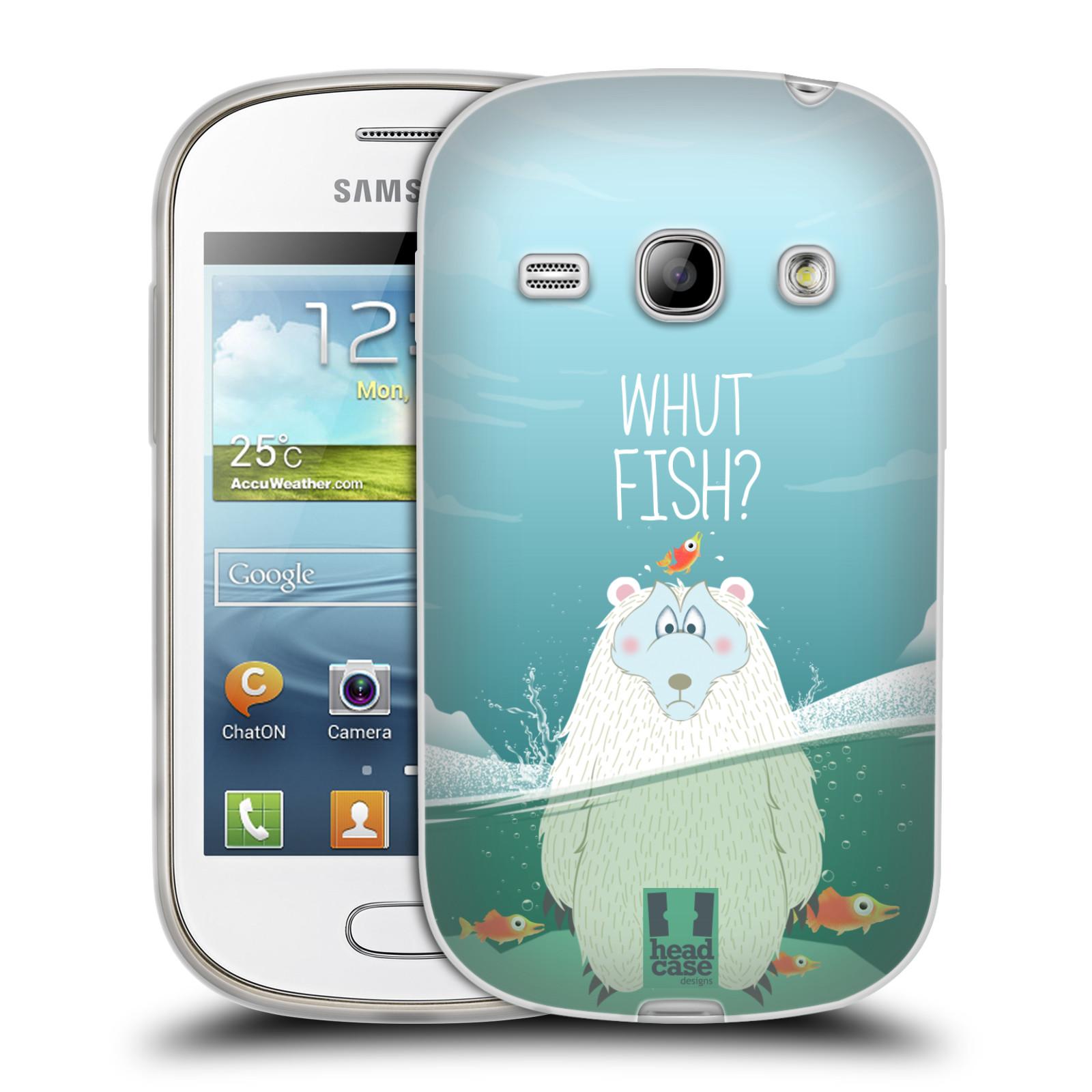 Silikonové pouzdro na mobil Samsung Galaxy Fame HEAD CASE Medvěd Whut Fish? (Silikonový kryt či obal na mobilní telefon Samsung Galaxy Fame GT-S6810)