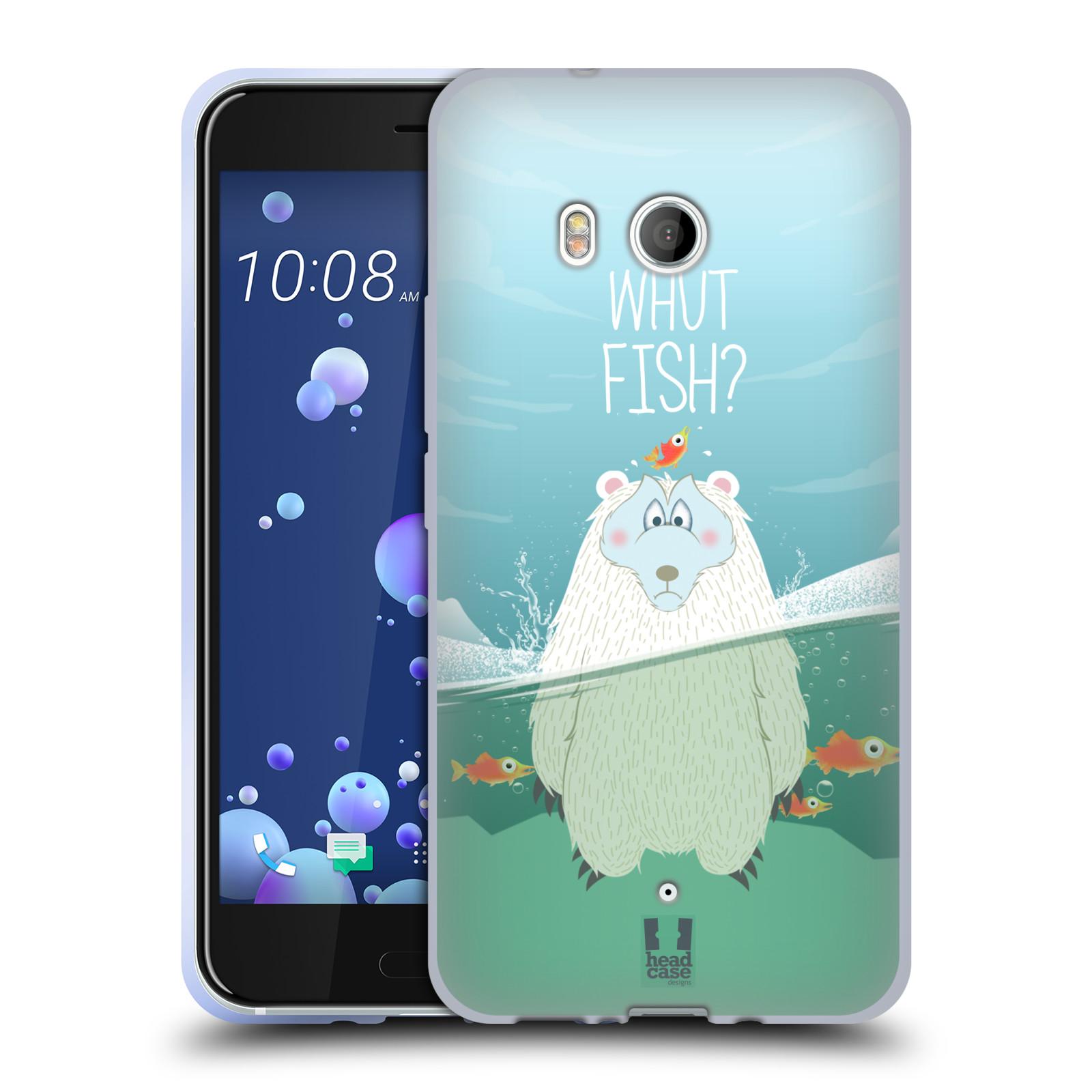 Silikonové pouzdro na mobil HTC U11 - Head Case - Medvěd Whut Fish?