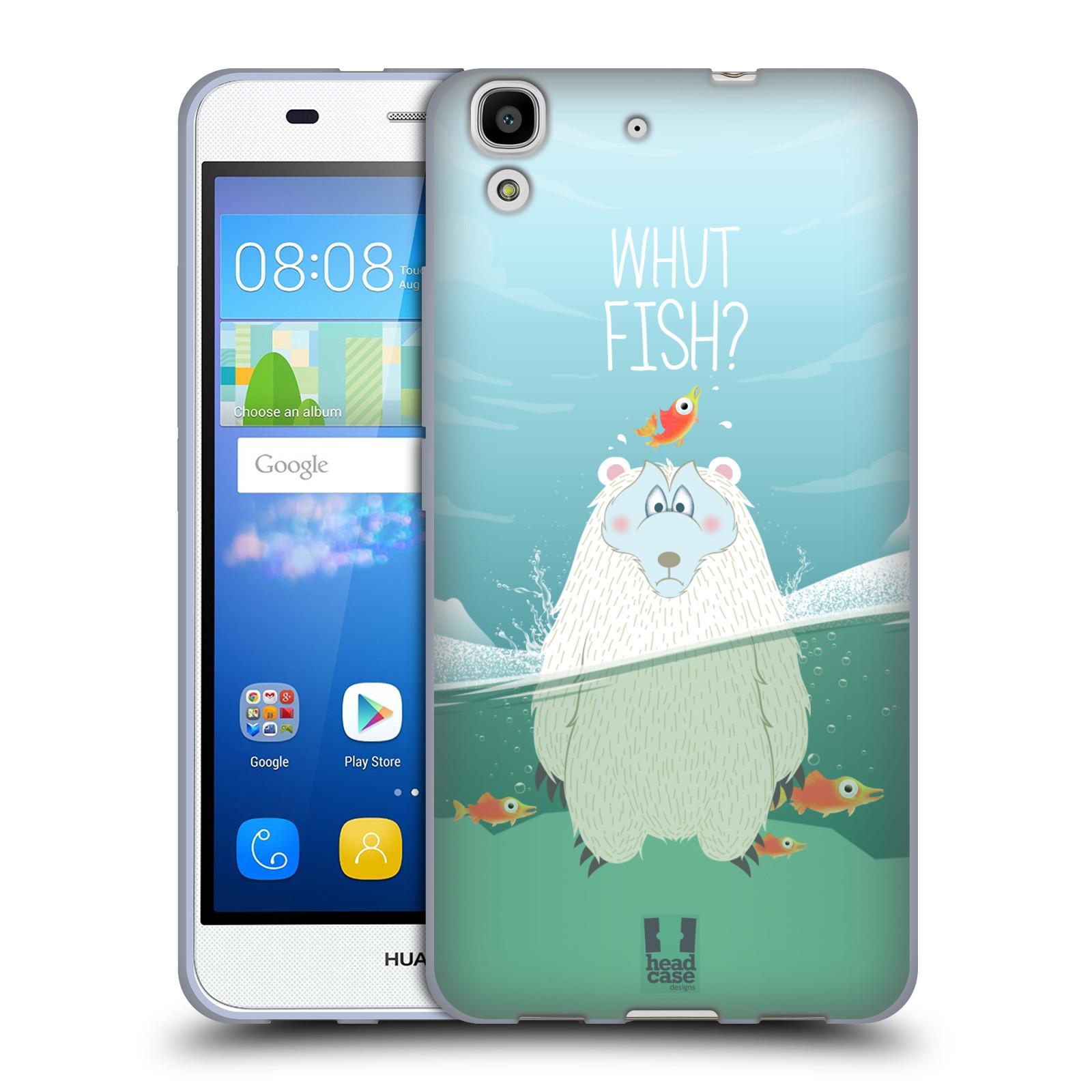 Silikonové pouzdro na mobil Huawei Y6 HEAD CASE Medvěd Whut Fish?