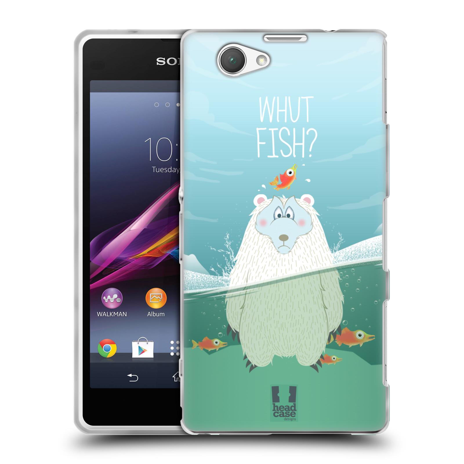 Silikonové pouzdro na mobil Sony Xperia Z1 Compact D5503 HEAD CASE Medvěd Whut Fish? (Silikonový kryt či obal na mobilní telefon Sony Xperia Z1 Compact)