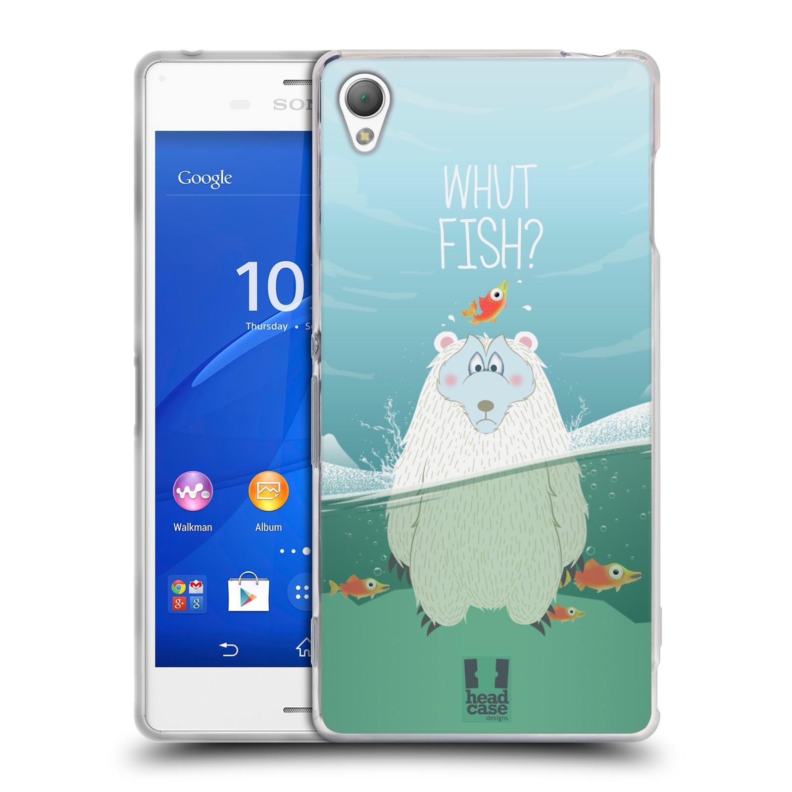 Silikonové pouzdro na mobil Sony Xperia Z3 D6603 HEAD CASE Medvěd Whut Fish?