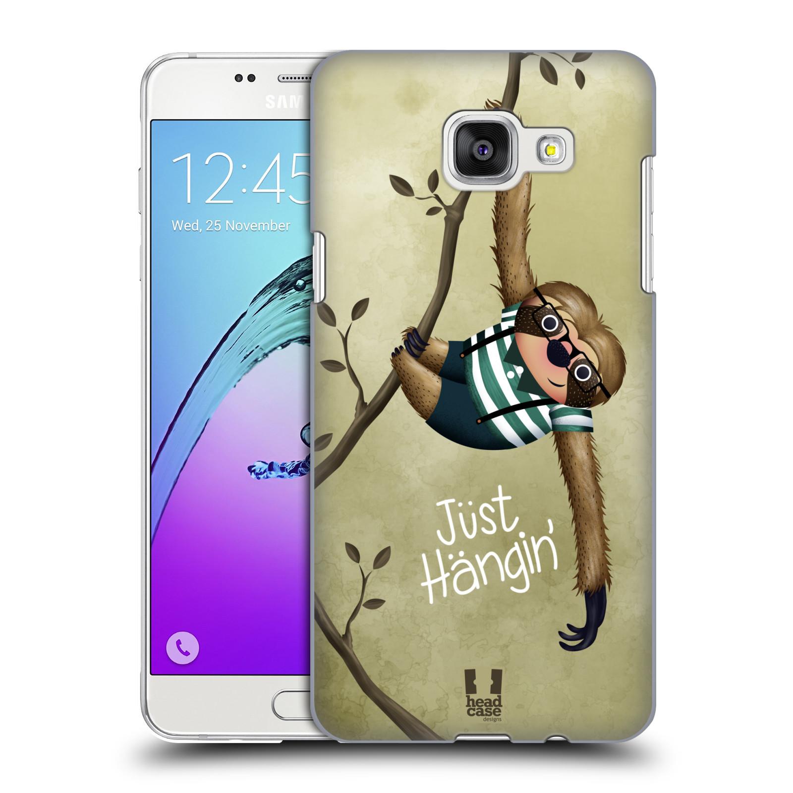 Plastové pouzdro na mobil Samsung Galaxy A5 (2016) HEAD CASE Lenochod Just Hangin