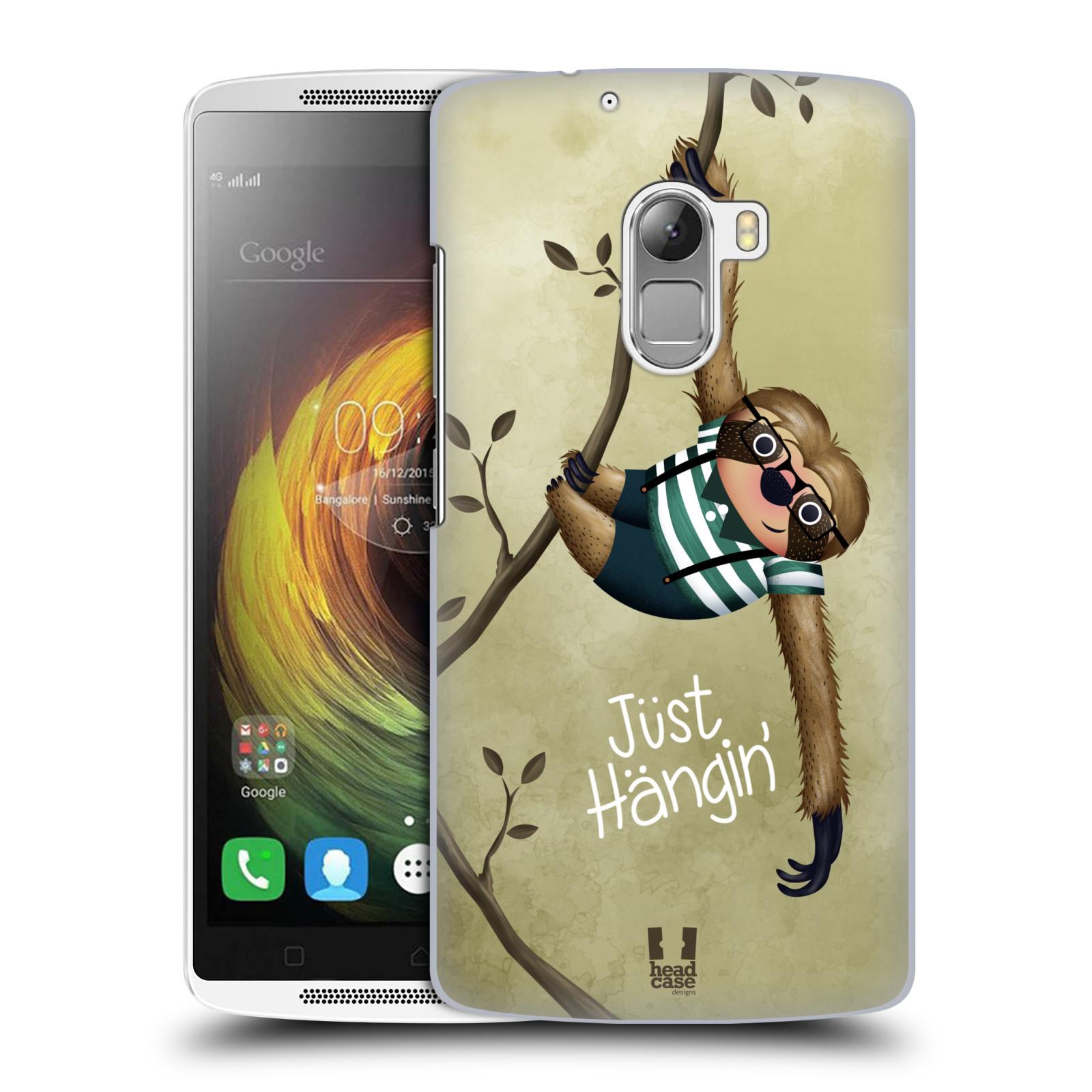 Plastové pouzdro na mobil Lenovo A7010 HEAD CASE Lenochod Just Hangin