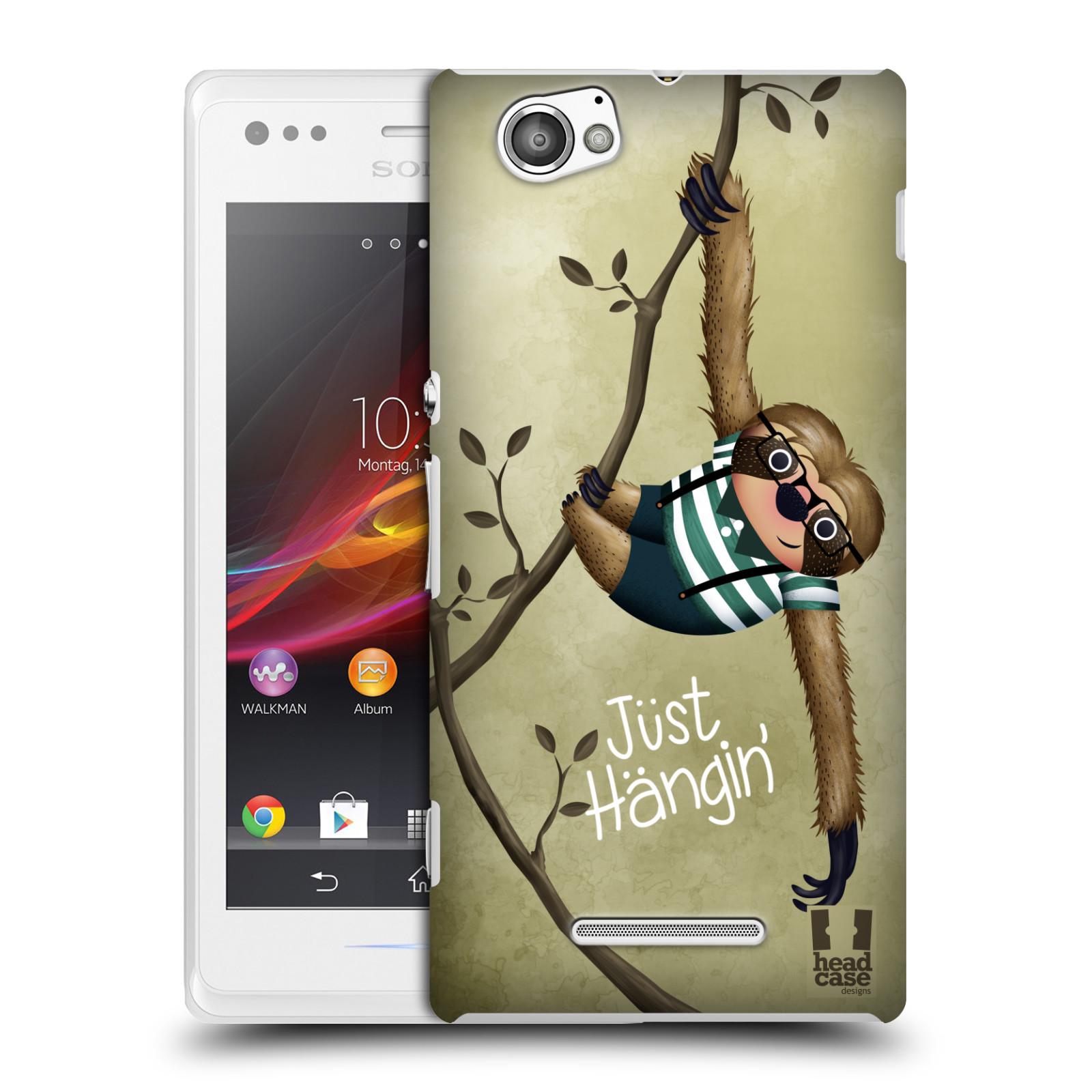 Plastové pouzdro na mobil Sony Xperia M C1905 HEAD CASE Lenochod Just Hangin
