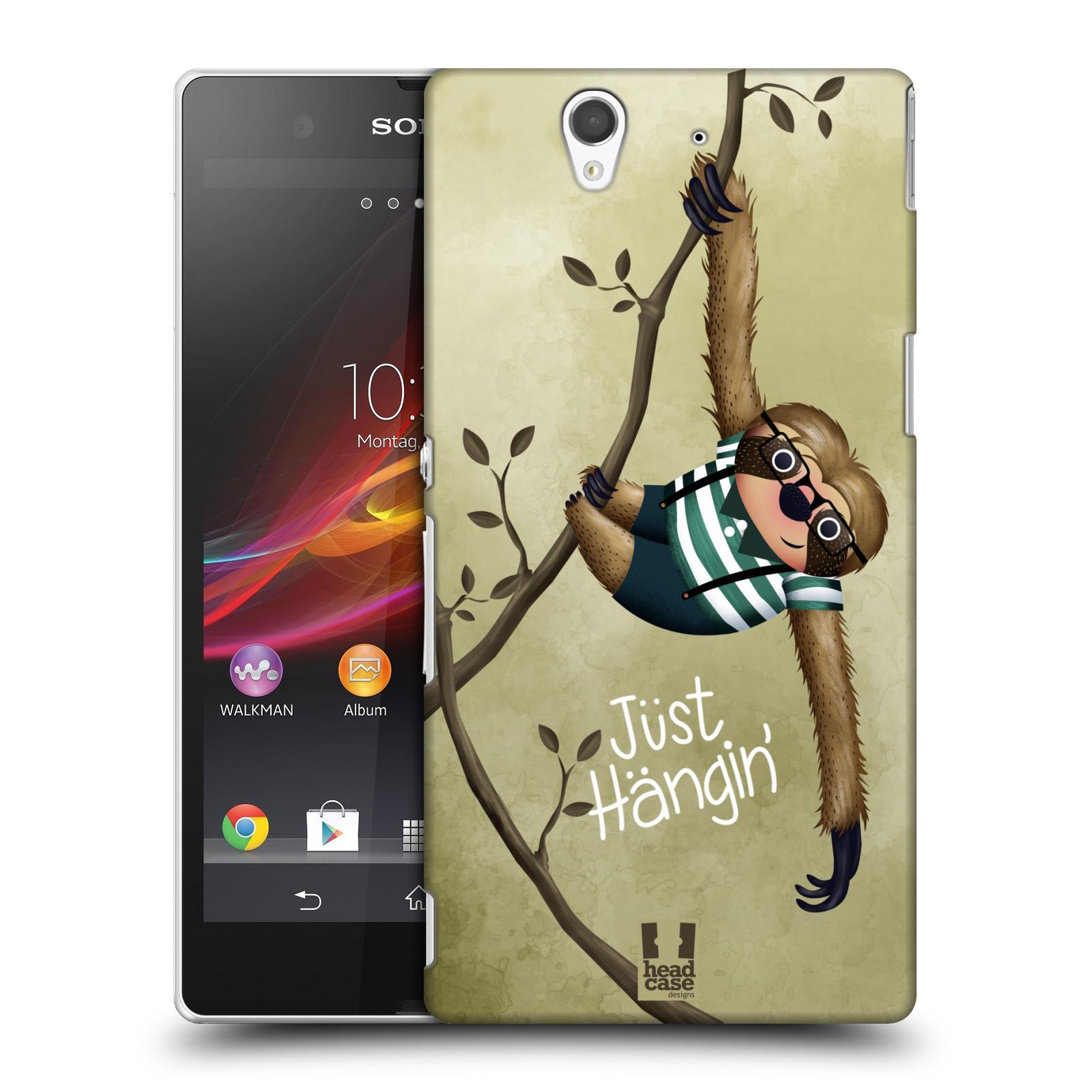 Plastové pouzdro na mobil Sony Xperia Z C6603 HEAD CASE Lenochod Just Hangin