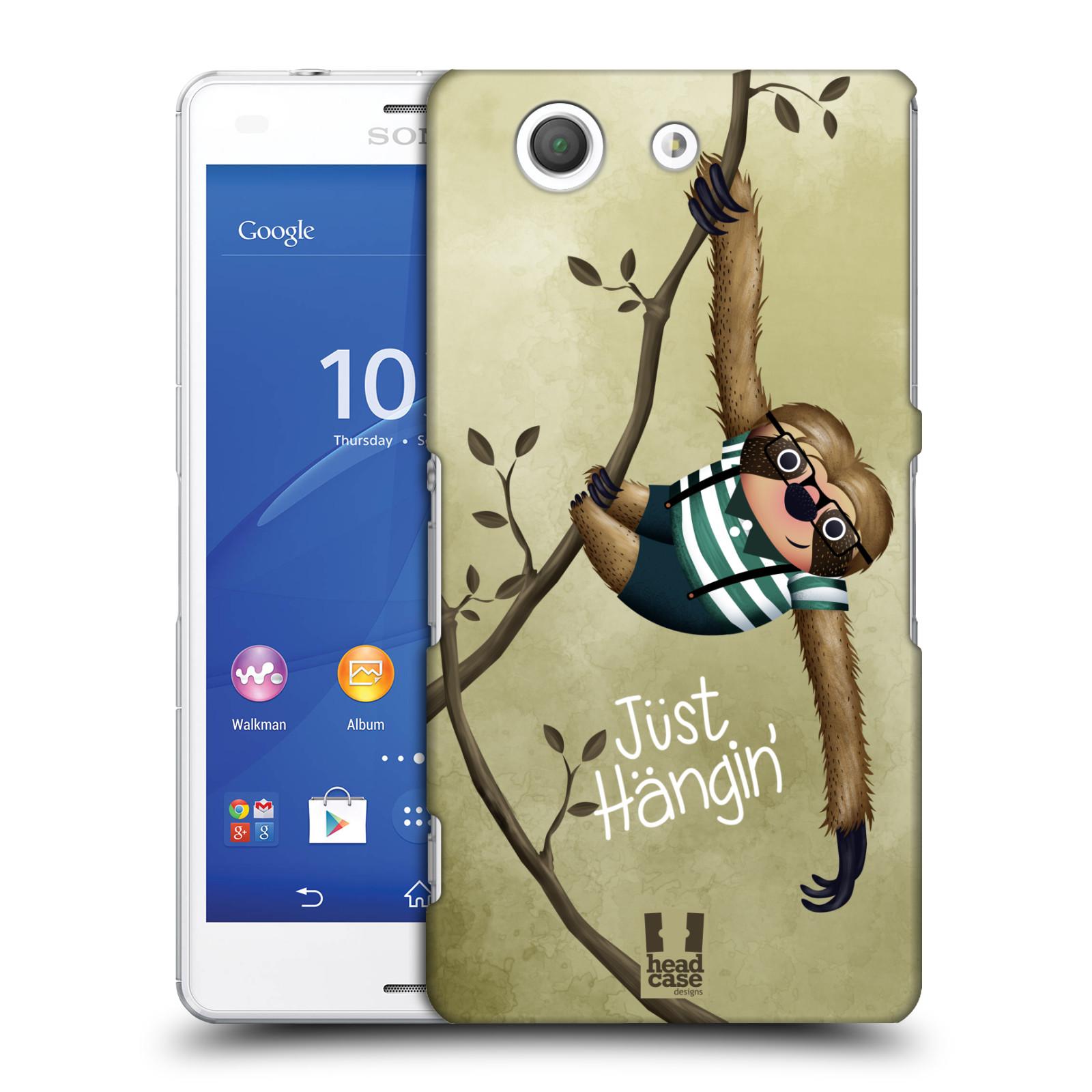 Plastové pouzdro na mobil Sony Xperia Z3 Compact D5803 HEAD CASE Lenochod Just Hangin
