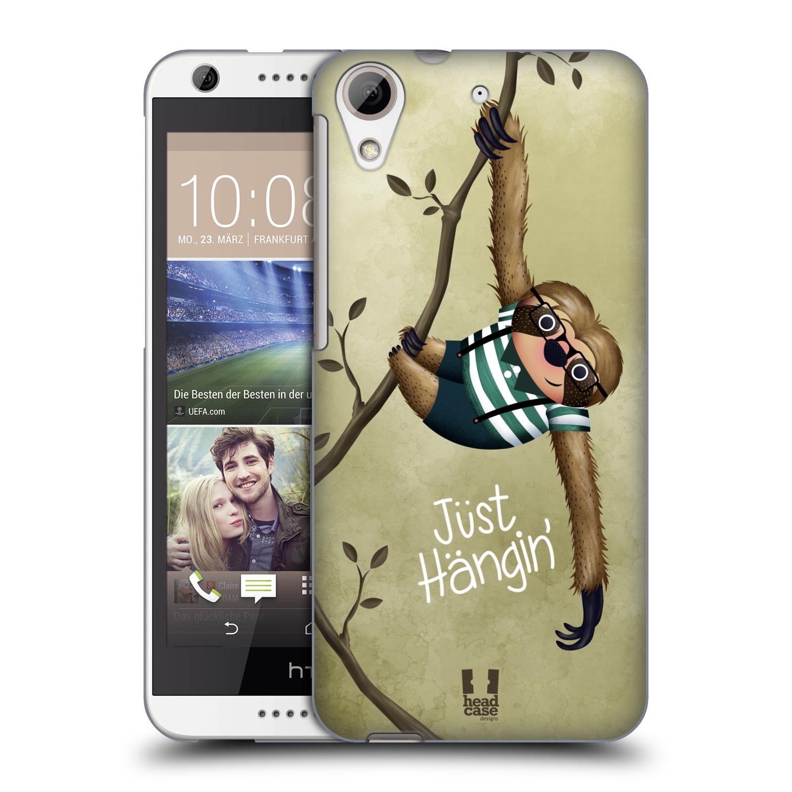 Plastové pouzdro na mobil HTC Desire 626 / 626G HEAD CASE Lenochod Just Hangin (Kryt či obal na mobilní telefon HTC Desire 626G Dual SIM a HTC Desire 626)