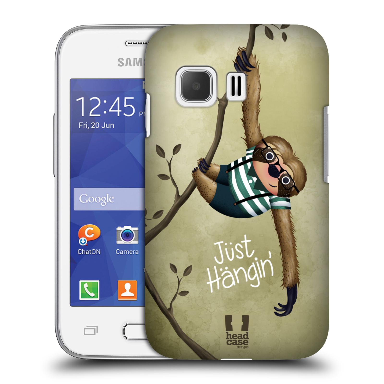 Plastové pouzdro na mobil Samsung Galaxy Young 2 HEAD CASE Lenochod Just Hangin (Kryt či obal na mobilní telefon Samsung Galaxy Young 2 SM-G130)