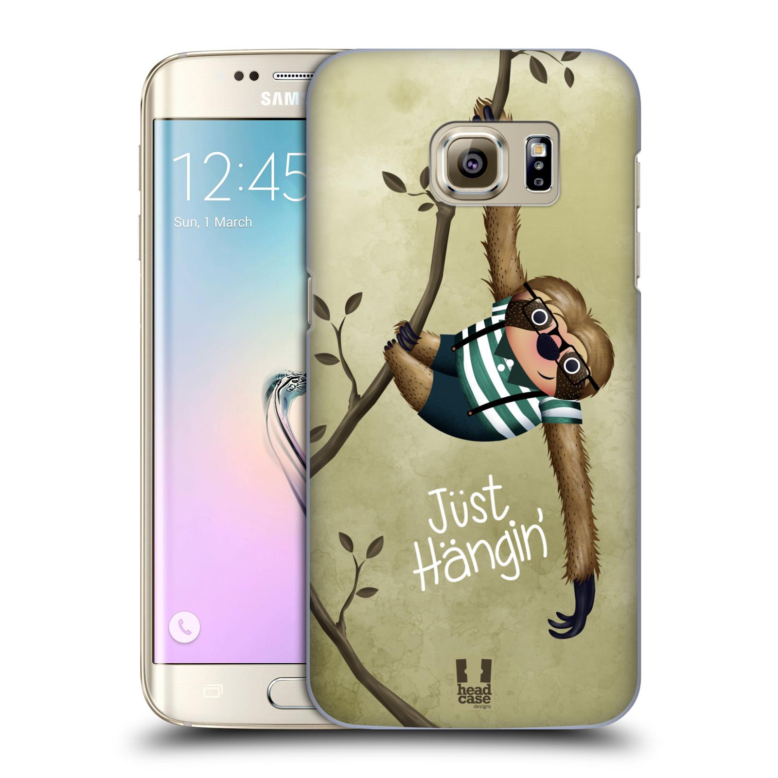 Plastové pouzdro na mobil Samsung Galaxy S7 Edge HEAD CASE Lenochod Just Hangin
