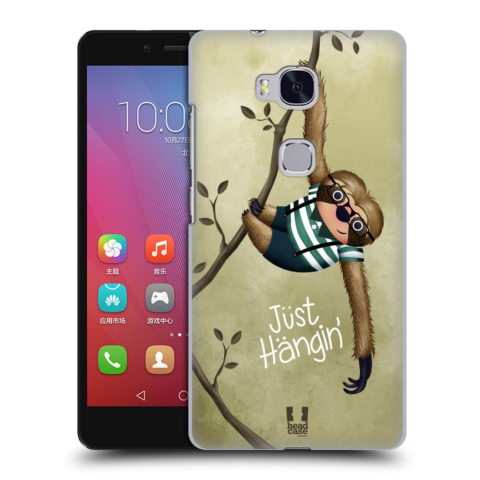 Plastové pouzdro na mobil Honor 5X HEAD CASE Lenochod Just Hangin