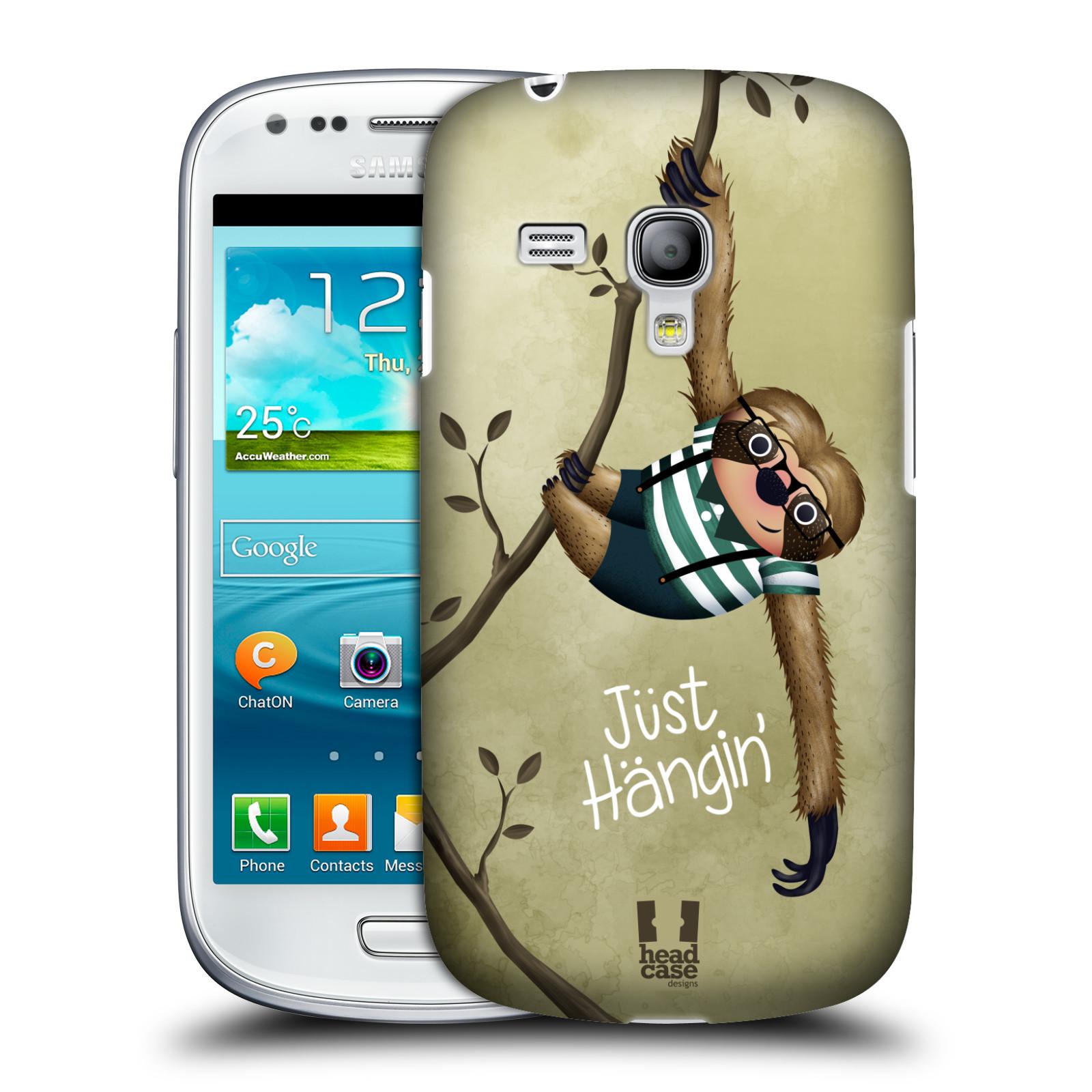 Plastové pouzdro na mobil Samsung Galaxy S III Mini HEAD CASE Lenochod Just Hangin (Kryt či obal na mobilní telefon Samsung Galaxy S III Mini GT-i8190)